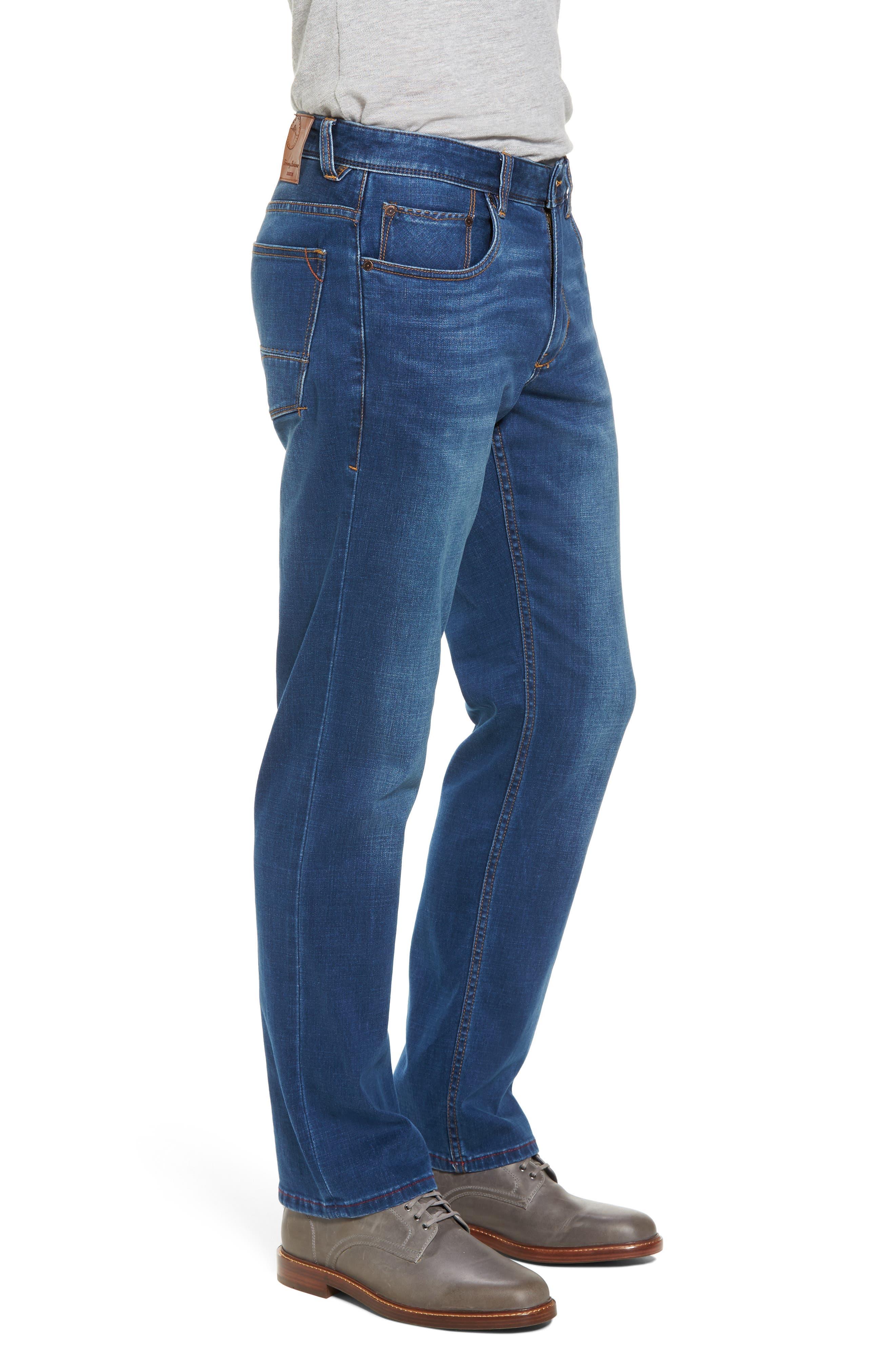 Caicos Authentic Fit Jeans,                             Alternate thumbnail 3, color,                             Medium Indigo