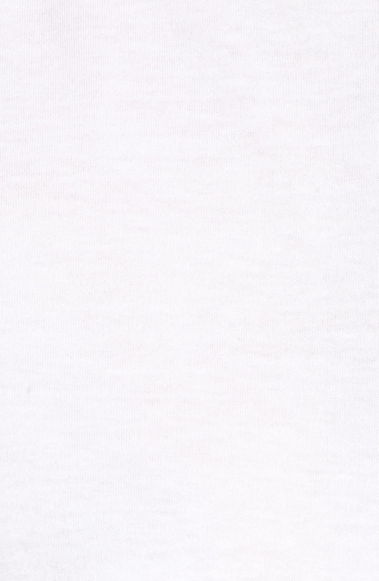 Ruffle Sleeve Twist Hem Tee,                             Alternate thumbnail 6, color,                             White