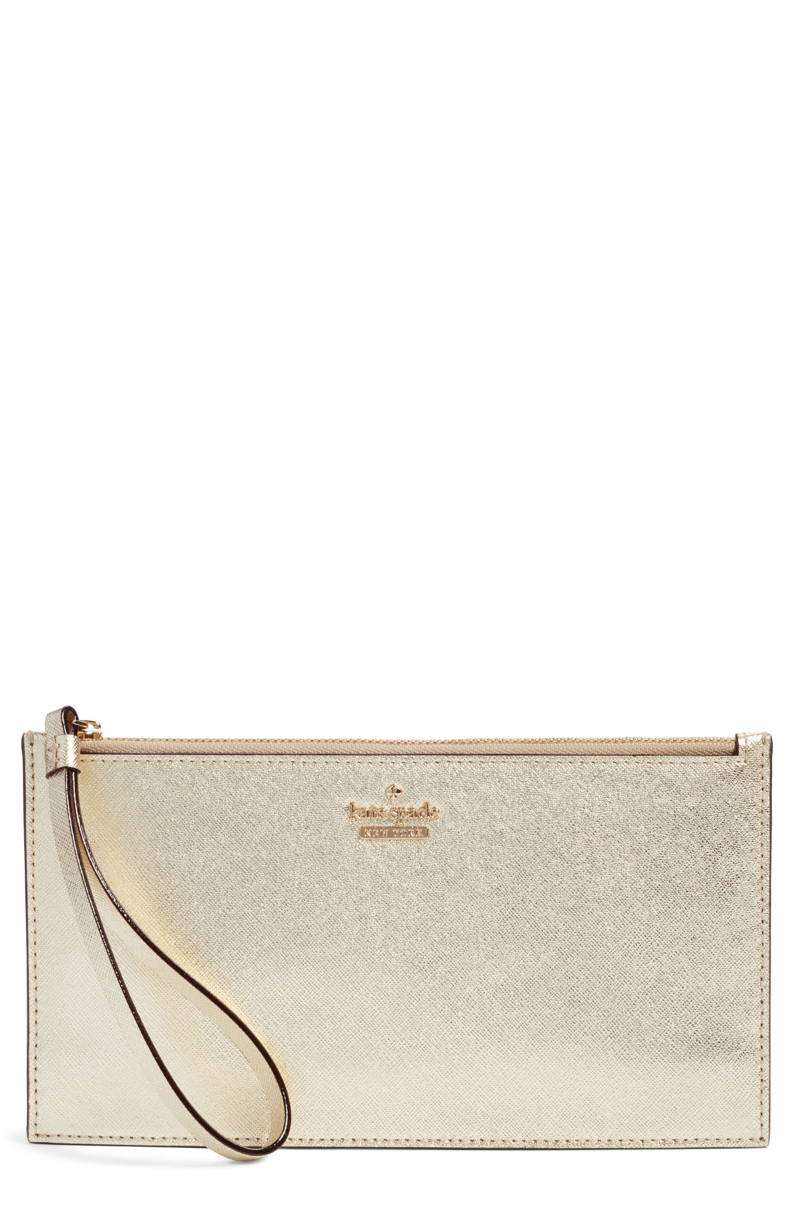 cameron street ariah leather wristlet,                         Main,                         color, Gold