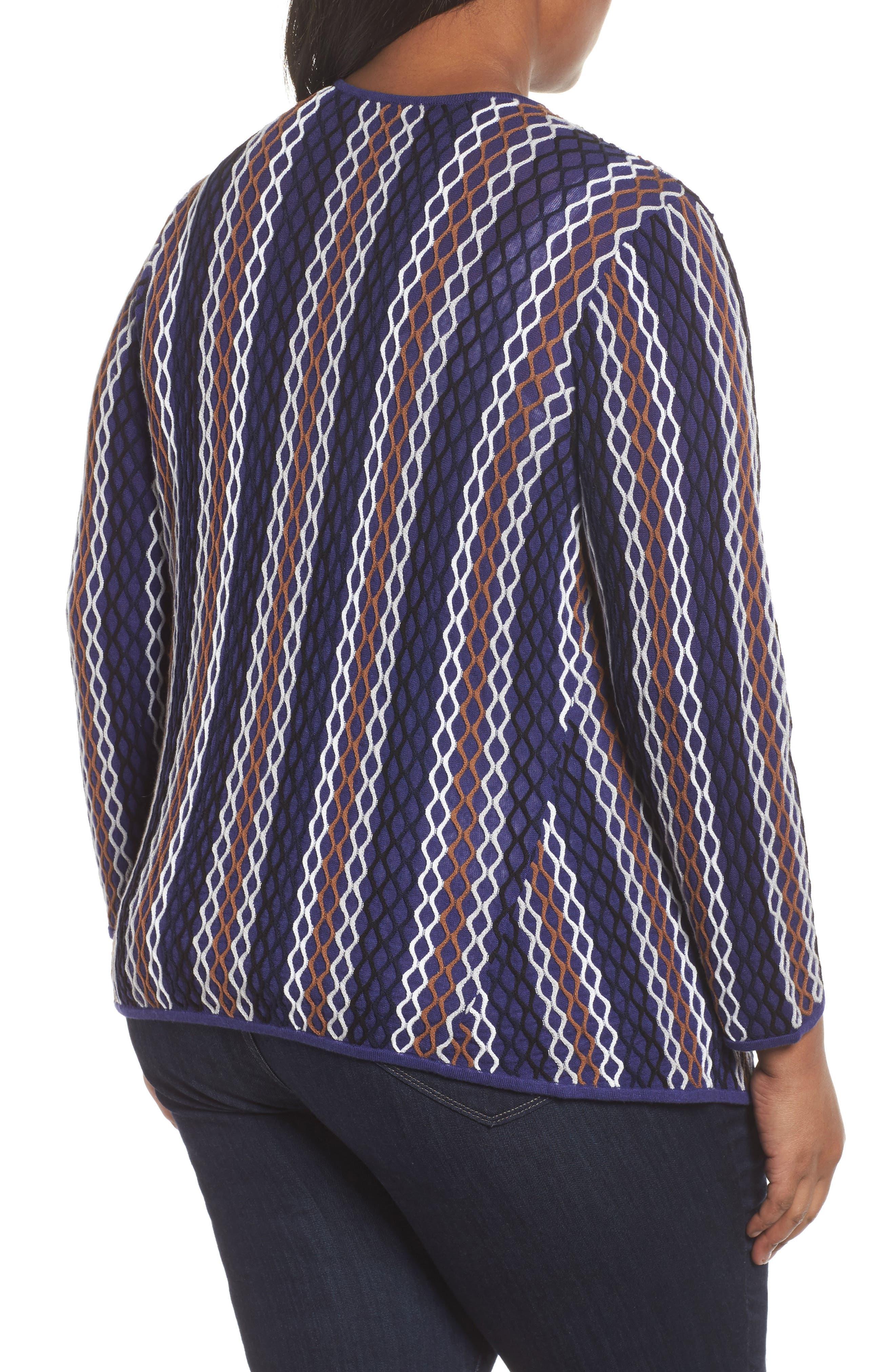 Alternate Image 2  - NIC+ZOE Squiggled Up Four Way Cardigan (Plus Size)
