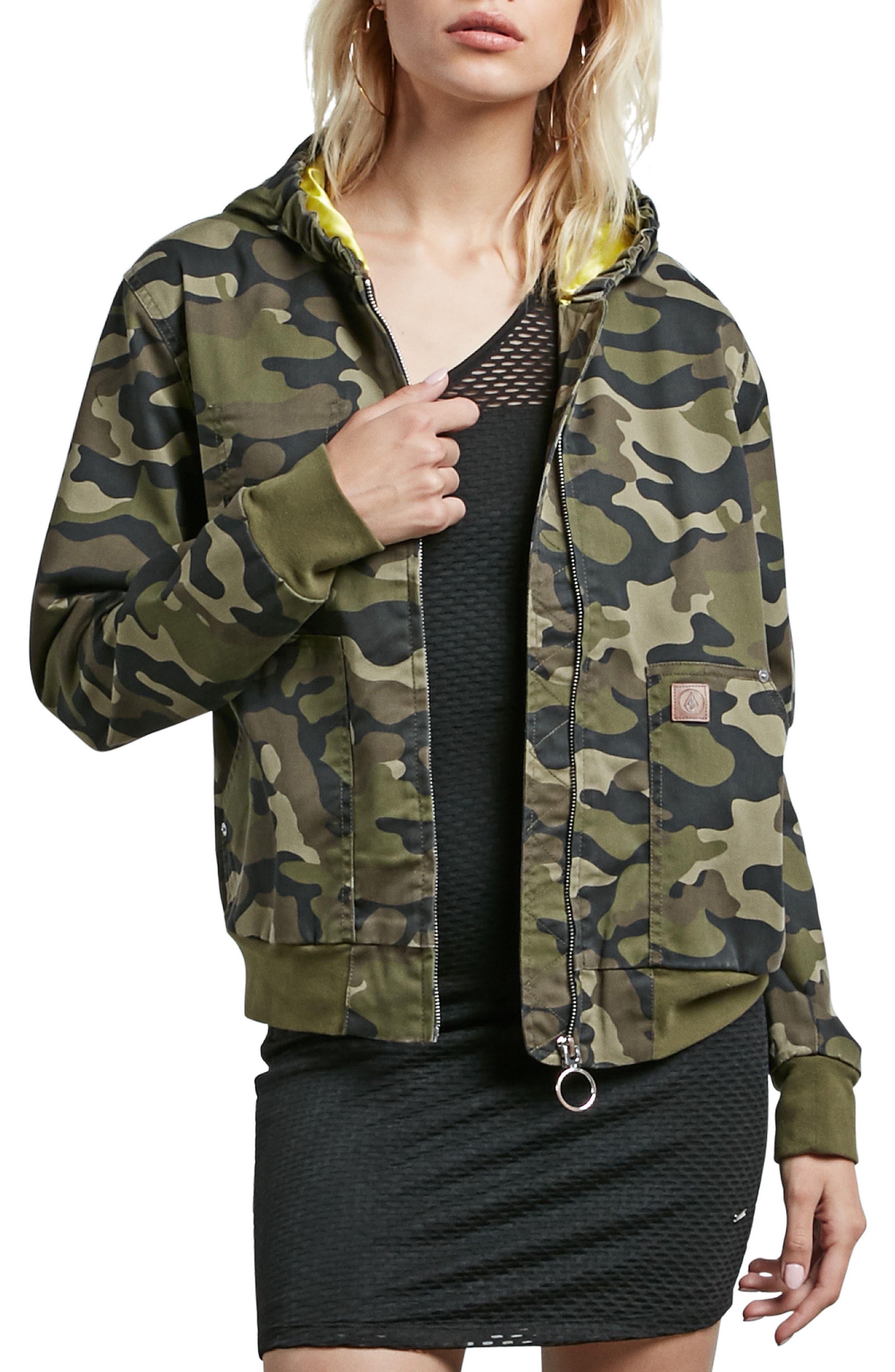 Frochickie Bomber Jacket,                             Main thumbnail 1, color,                             Dark Camo