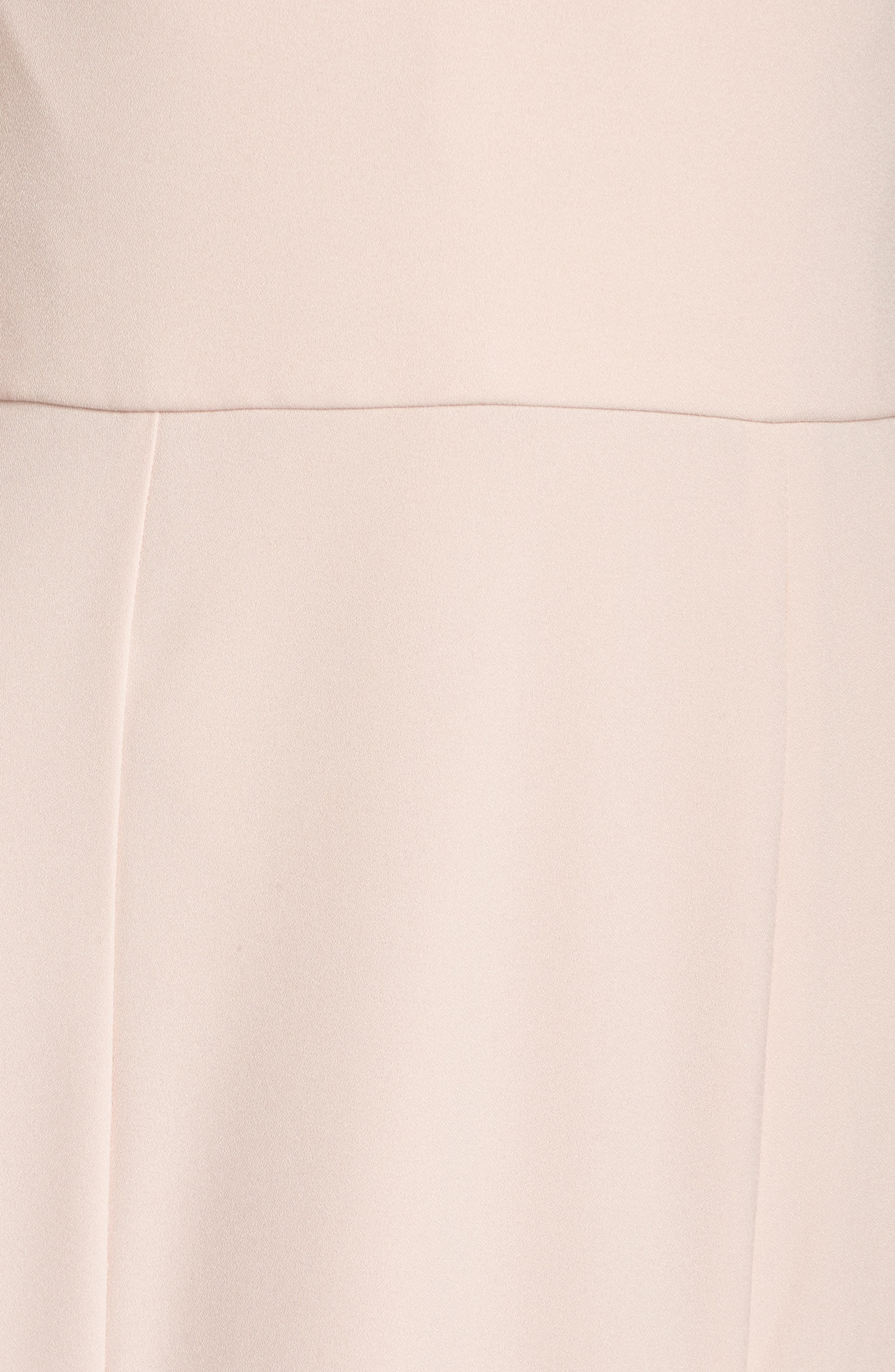 Off the Shoulder Crepe Gown,                             Alternate thumbnail 5, color,                             Blush