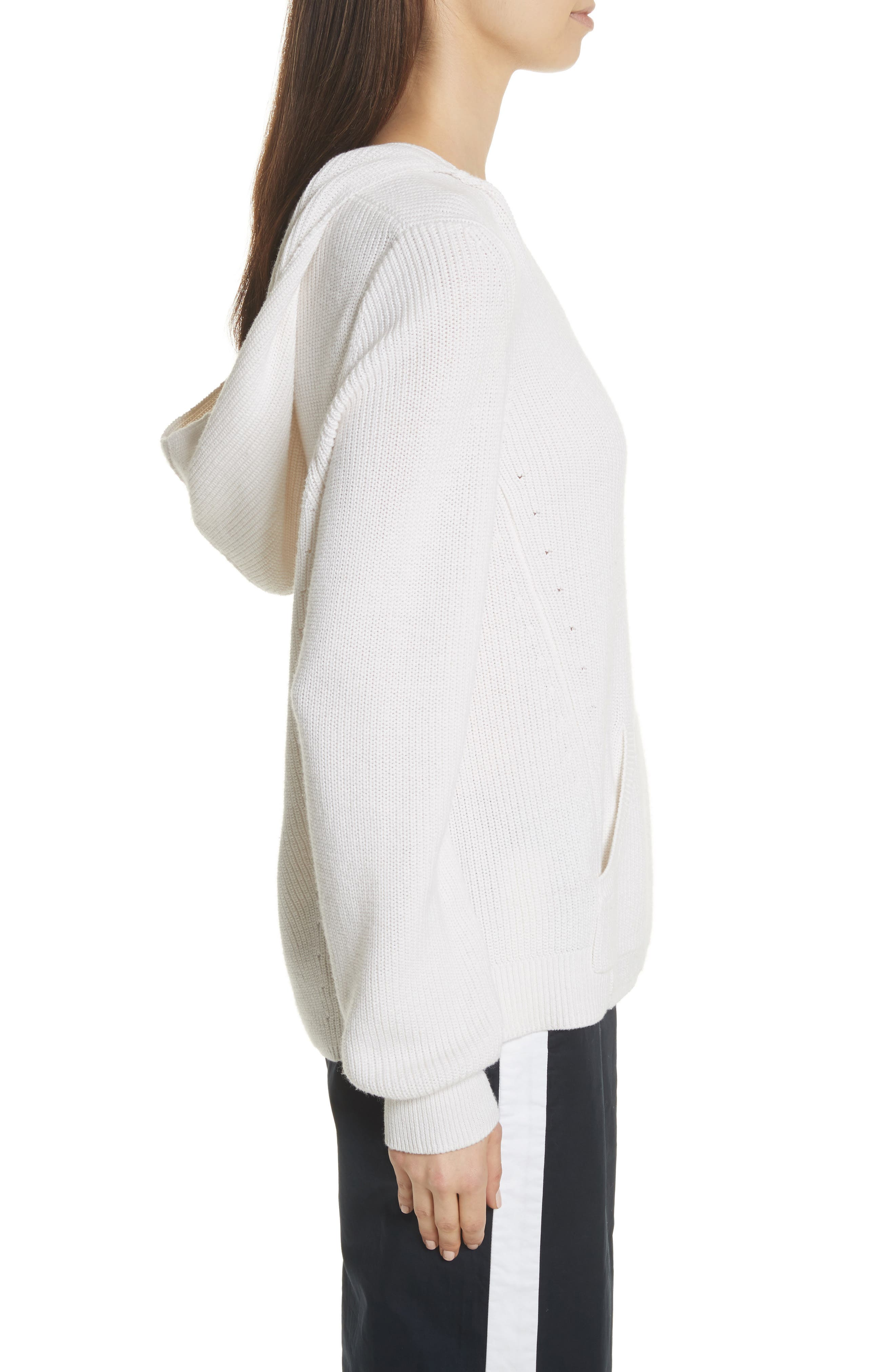Octavia Hooded Sweater,                             Alternate thumbnail 3, color,                             Ivory