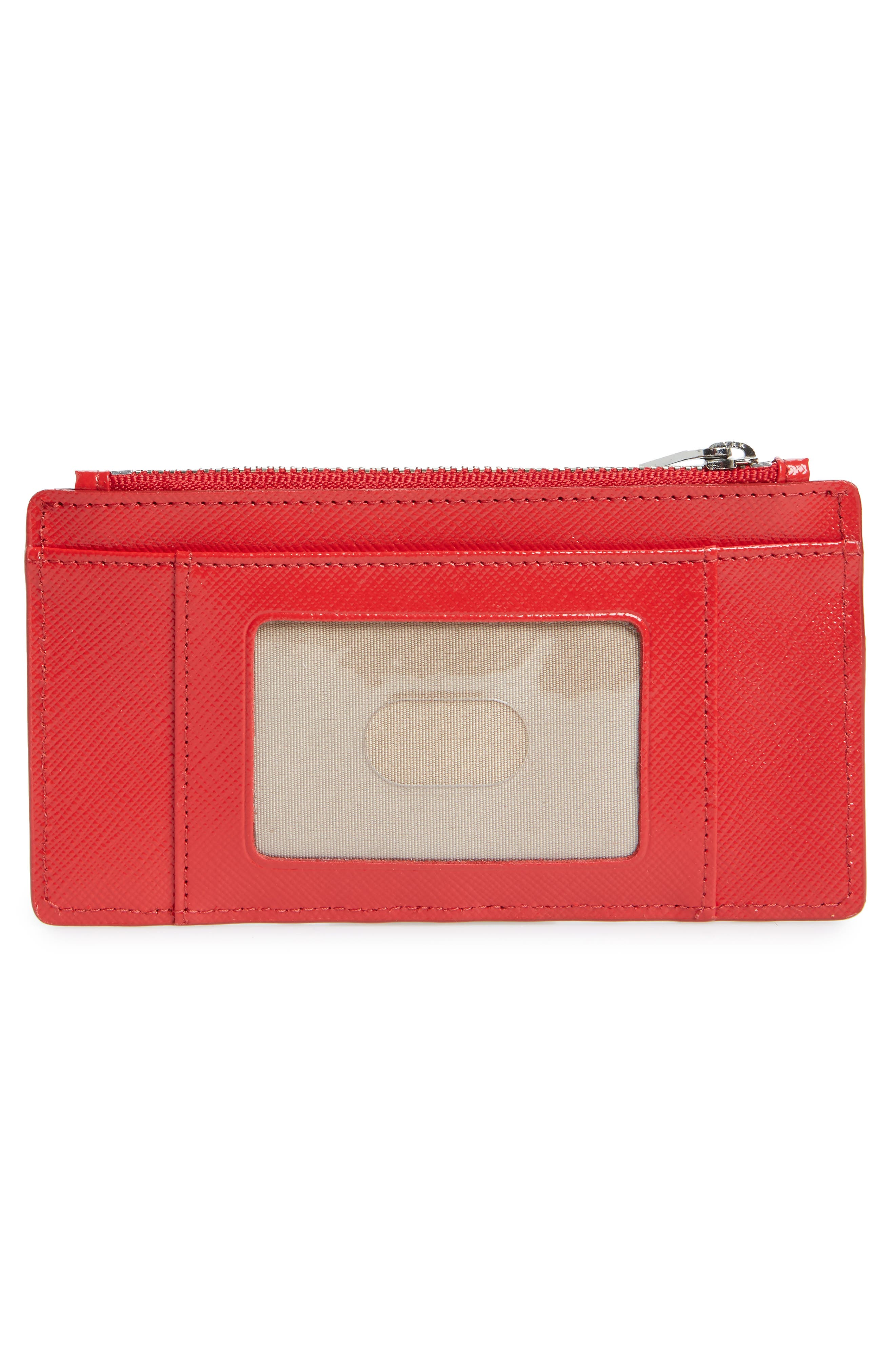 Leather Card Case,                             Alternate thumbnail 2, color,                             Red Ribbon