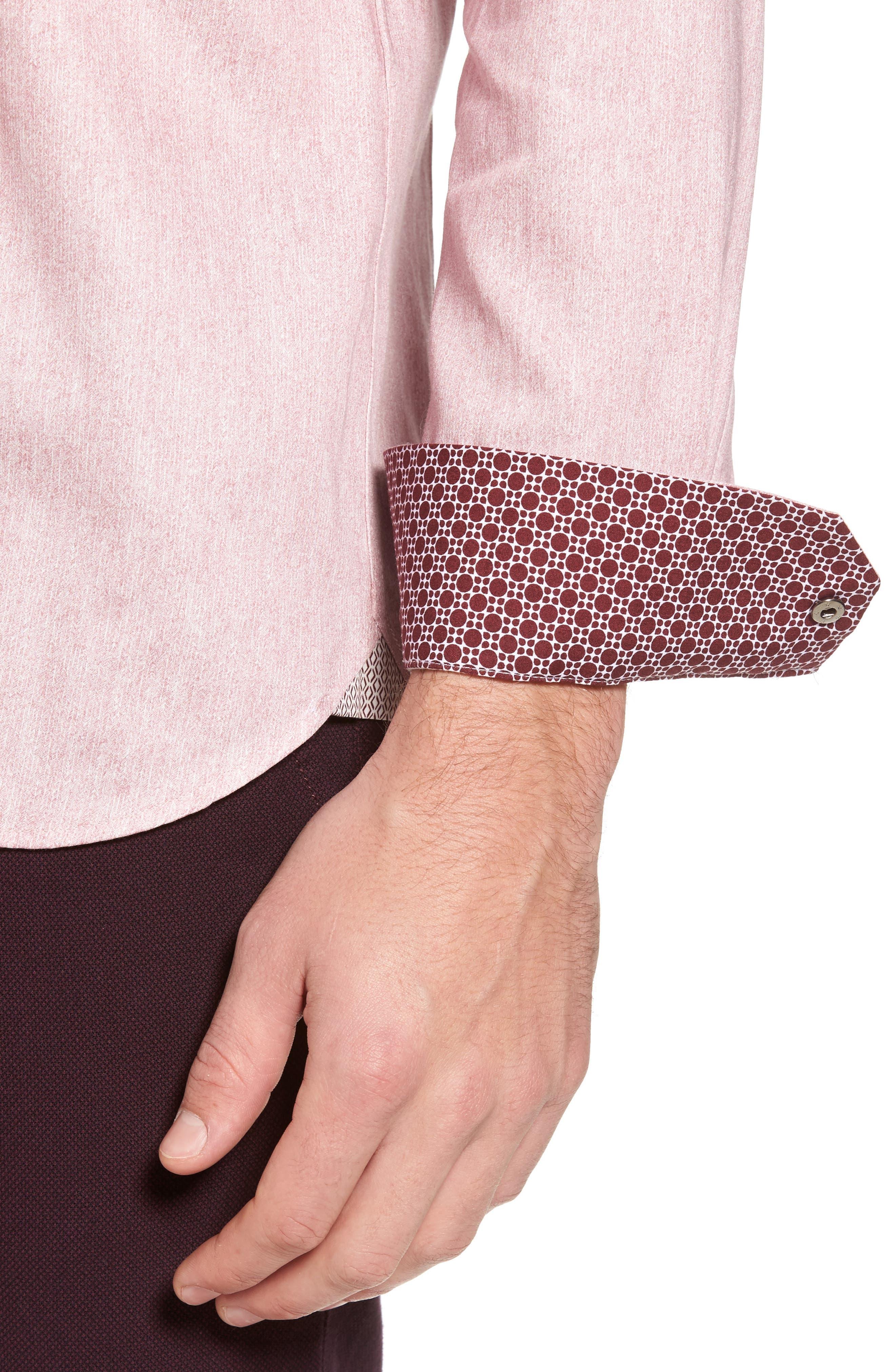 Alternate Image 4  - Ted Baker London Lili Slim Fit Herringbone Sport Shirt