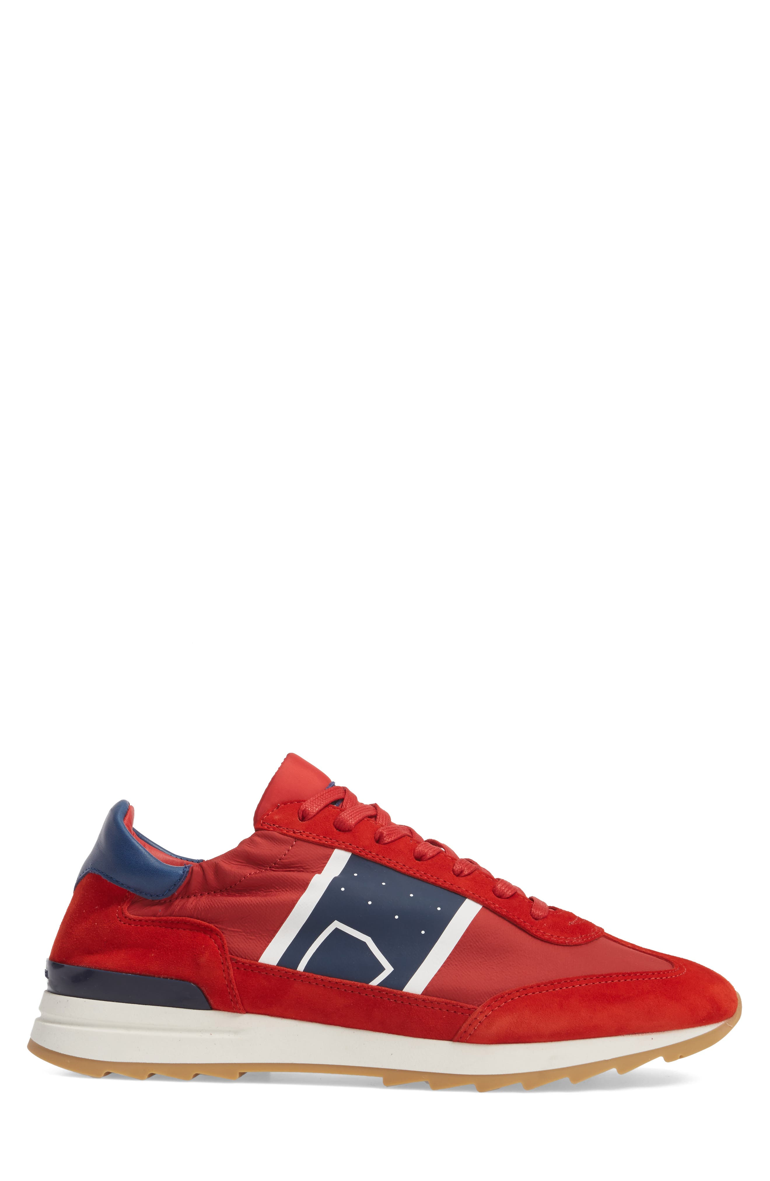 Toujours Sneaker,                             Alternate thumbnail 3, color,                             Red/ Blue