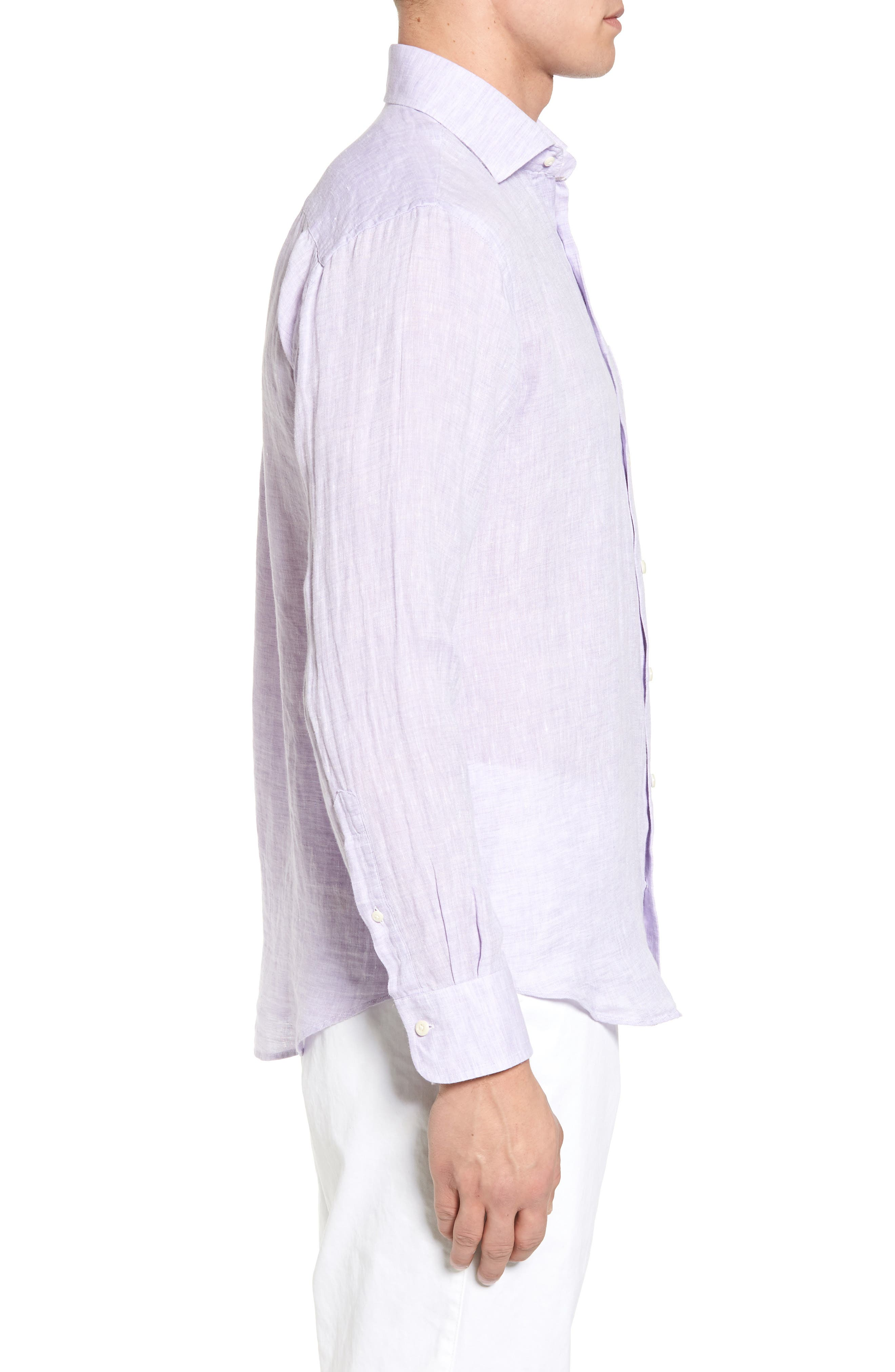 Alternate Image 3  - Peter Millar Classic Fit Crown Cool Linen Sport Shirt