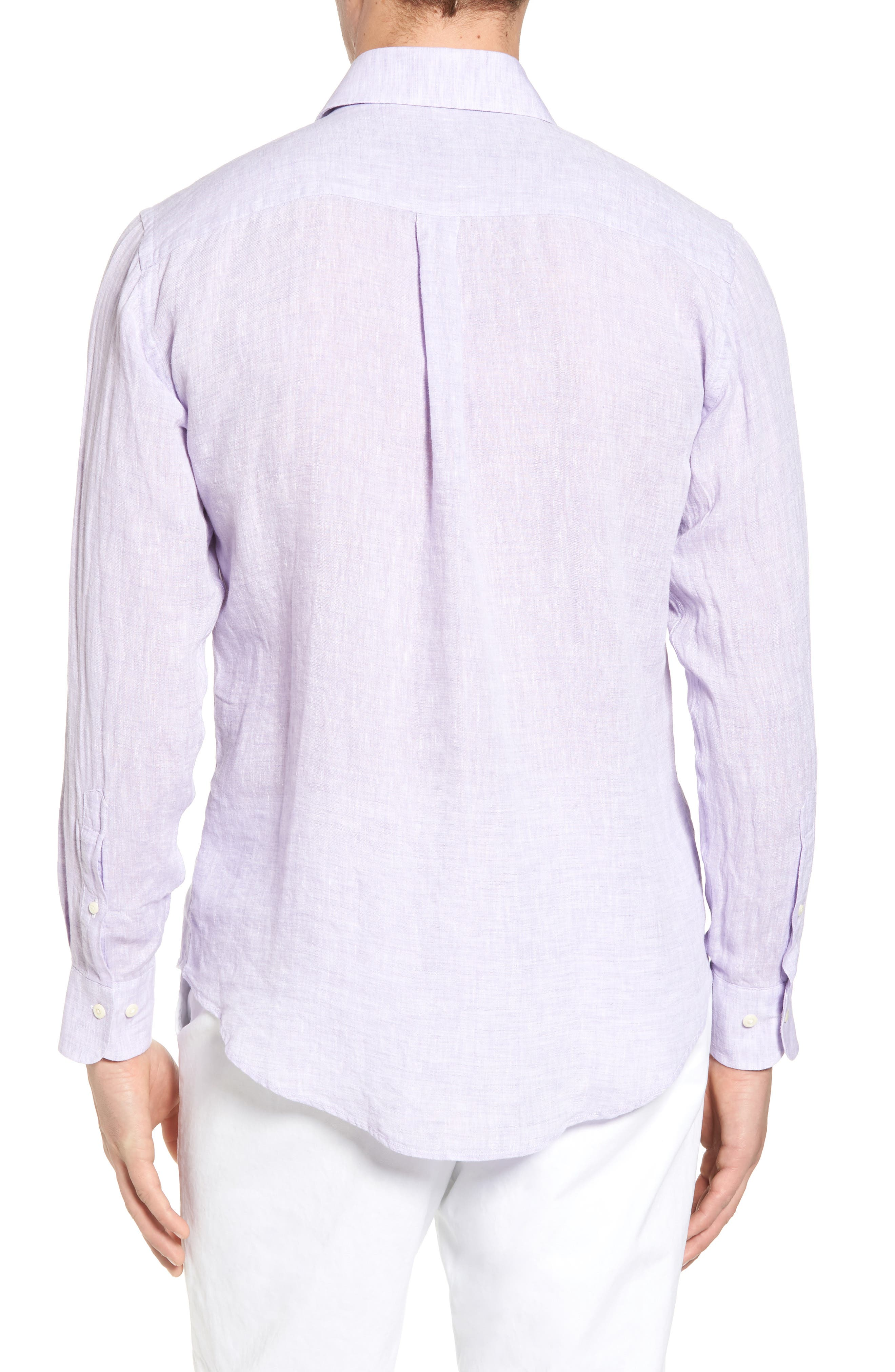Alternate Image 2  - Peter Millar Classic Fit Crown Cool Linen Sport Shirt