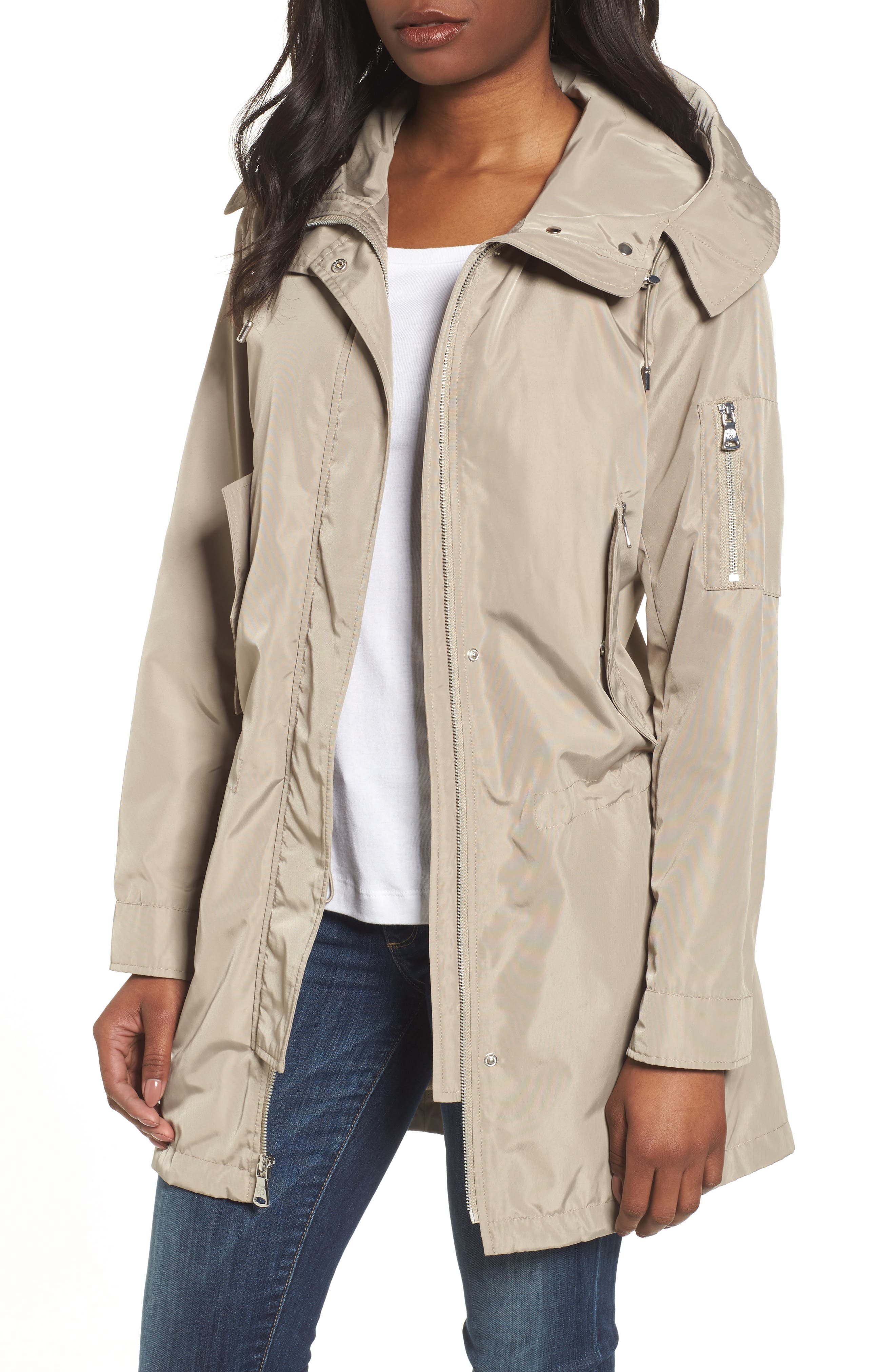 Vince Camuto Drawcord Parka