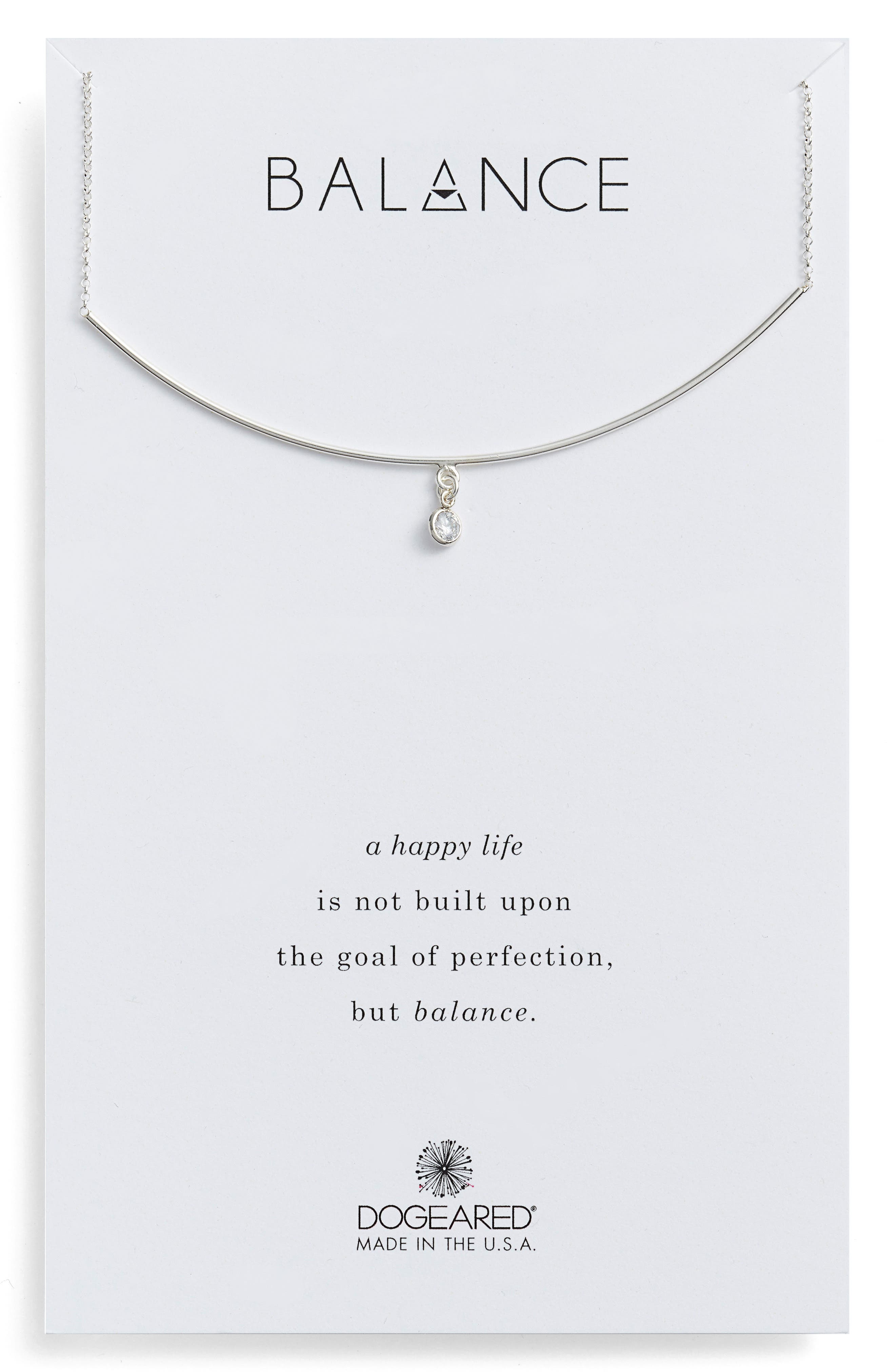 Alternate Image 1 Selected - Dogeared Balance Bar Necklace