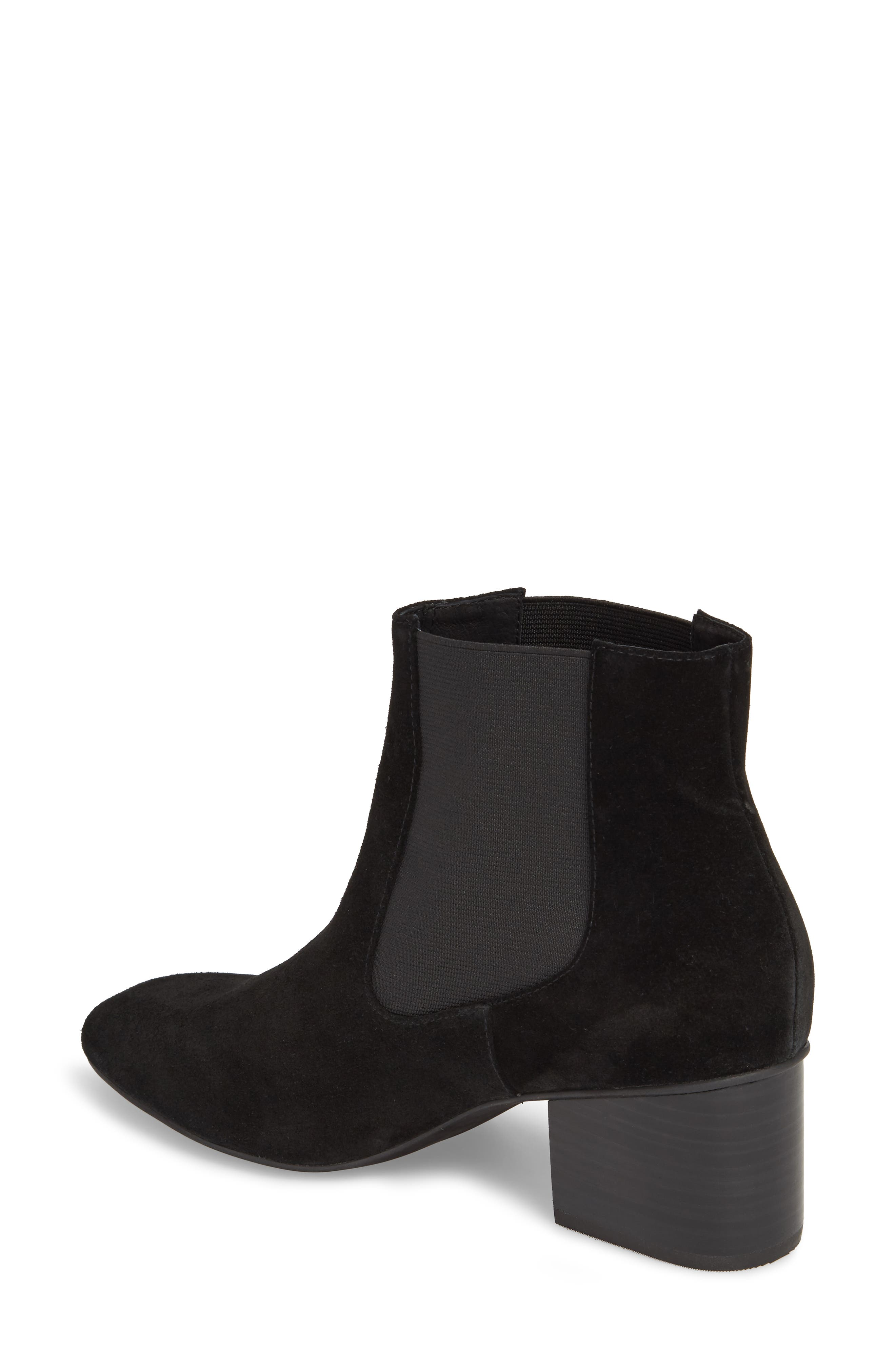 Tucker Chelsea Bootie,                             Alternate thumbnail 2, color,                             Black Leather