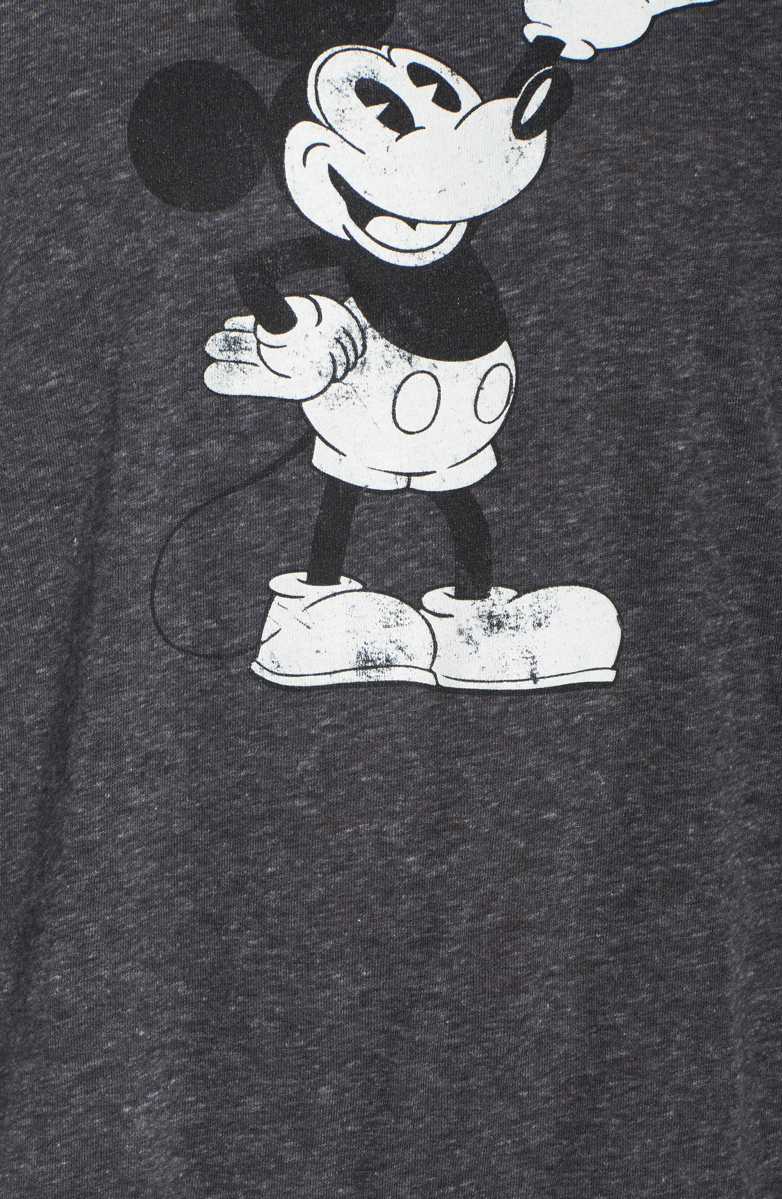 Mickey Mouse Tee,                             Alternate thumbnail 6, color,                             Charcoal Heather