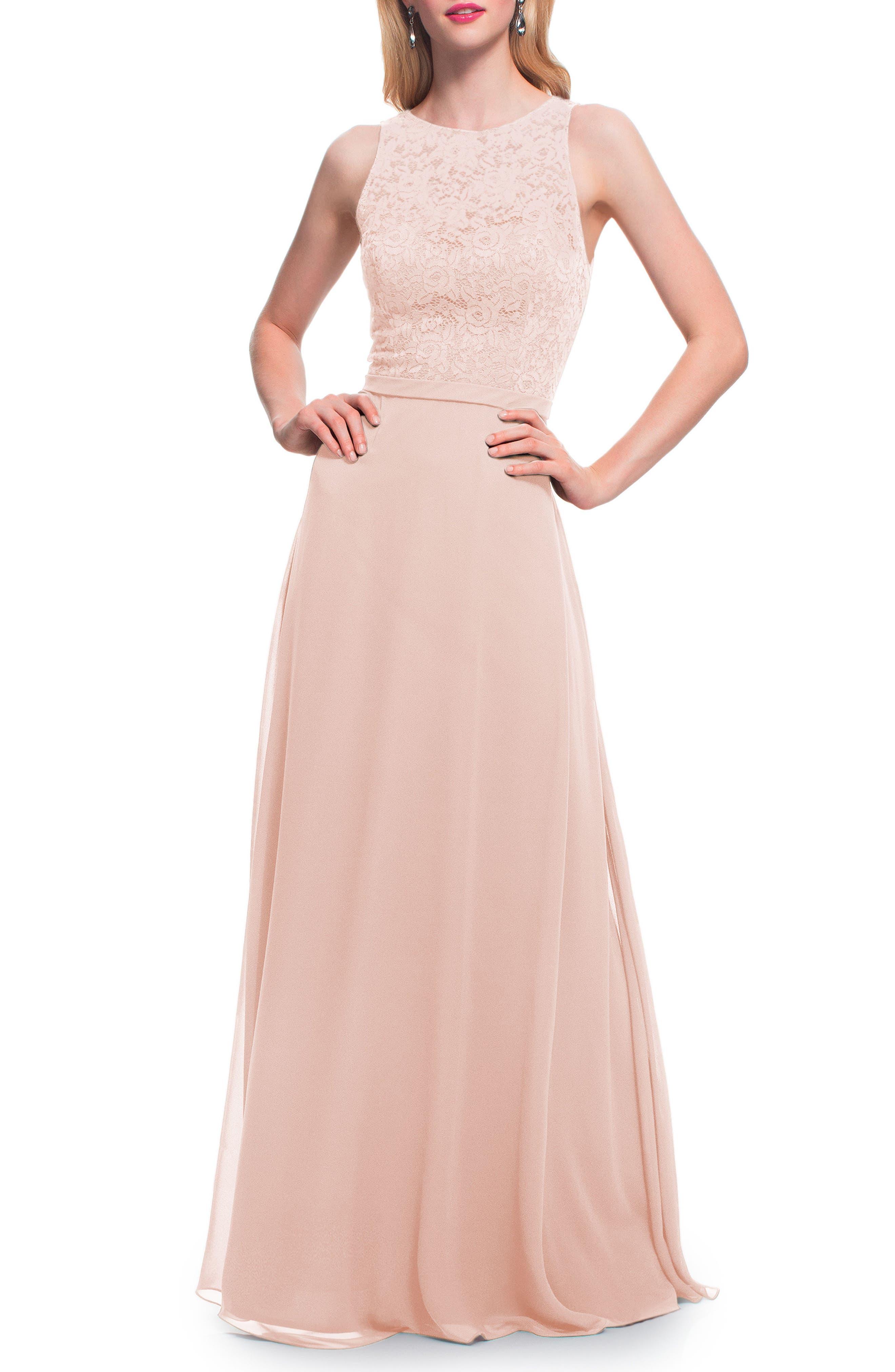 Petal Pink Lace Dresses