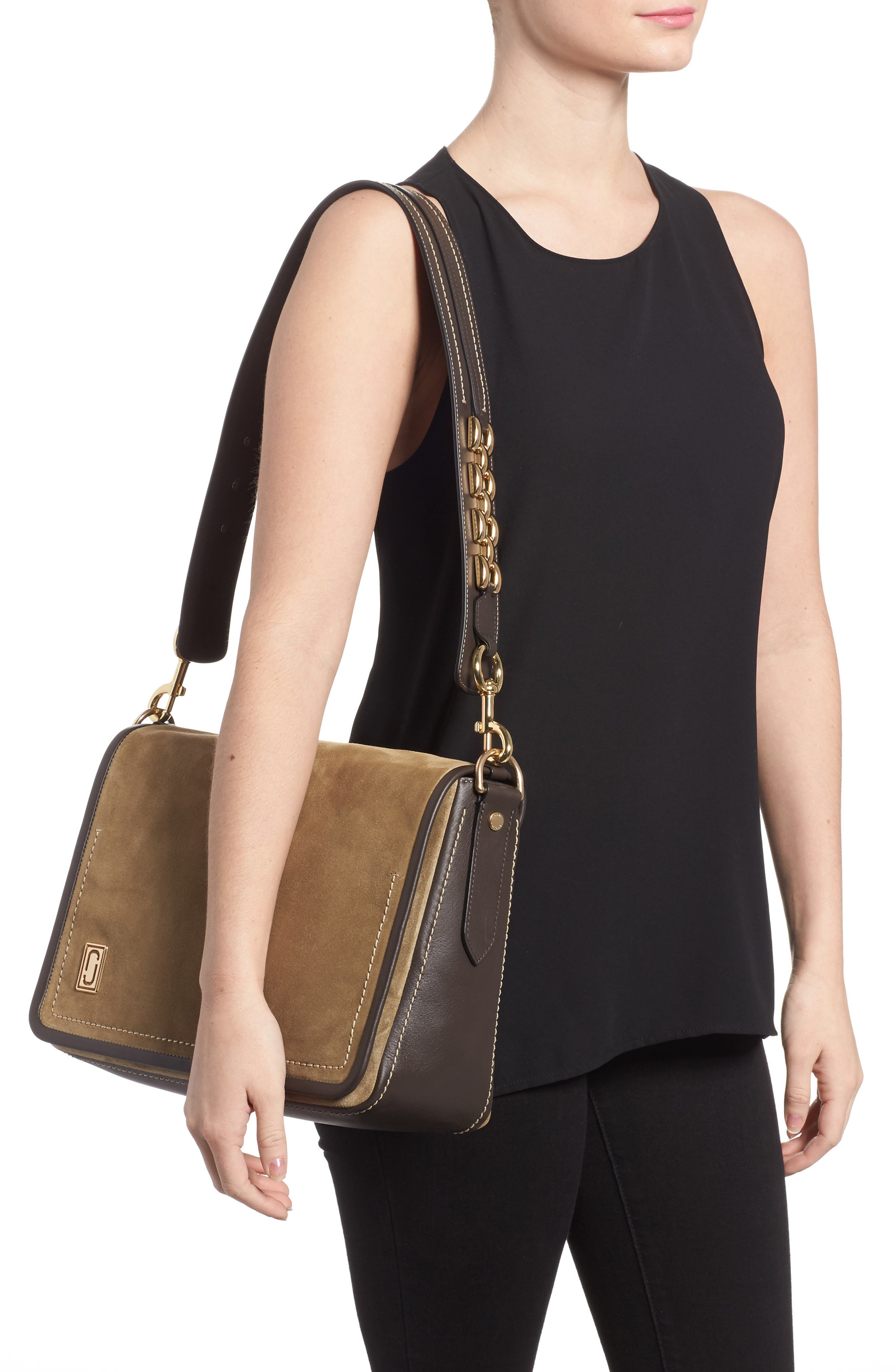Alternate Image 2  - MARC JACOBS The Squeeze Suede Shoulder Bag