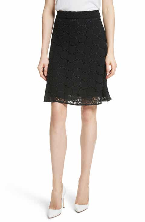 kate spade new york floral lace skirt