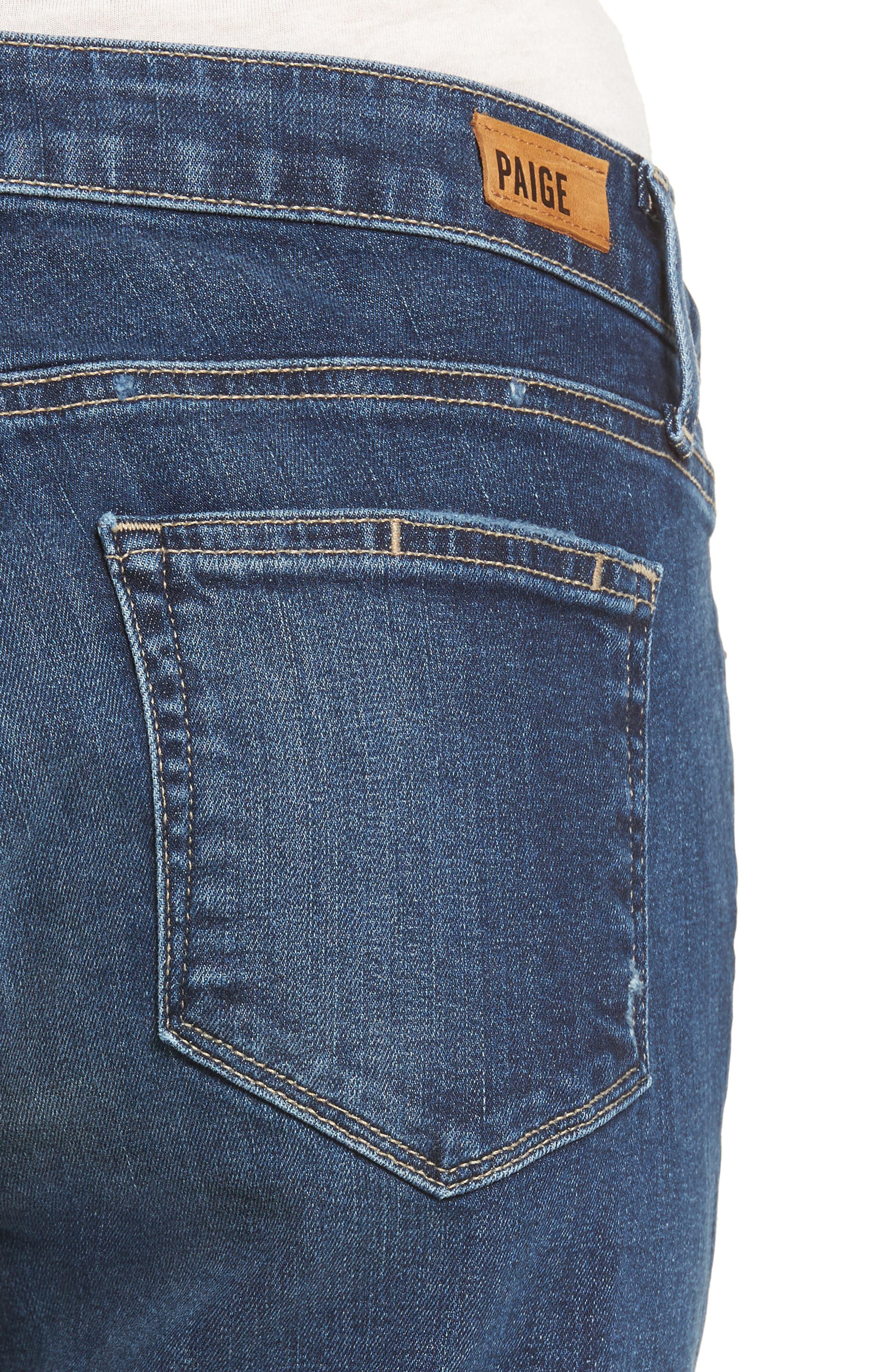 Jimmy Jimmy High Waist Crop Boyfriend Jeans,                             Alternate thumbnail 4, color,                             Blue