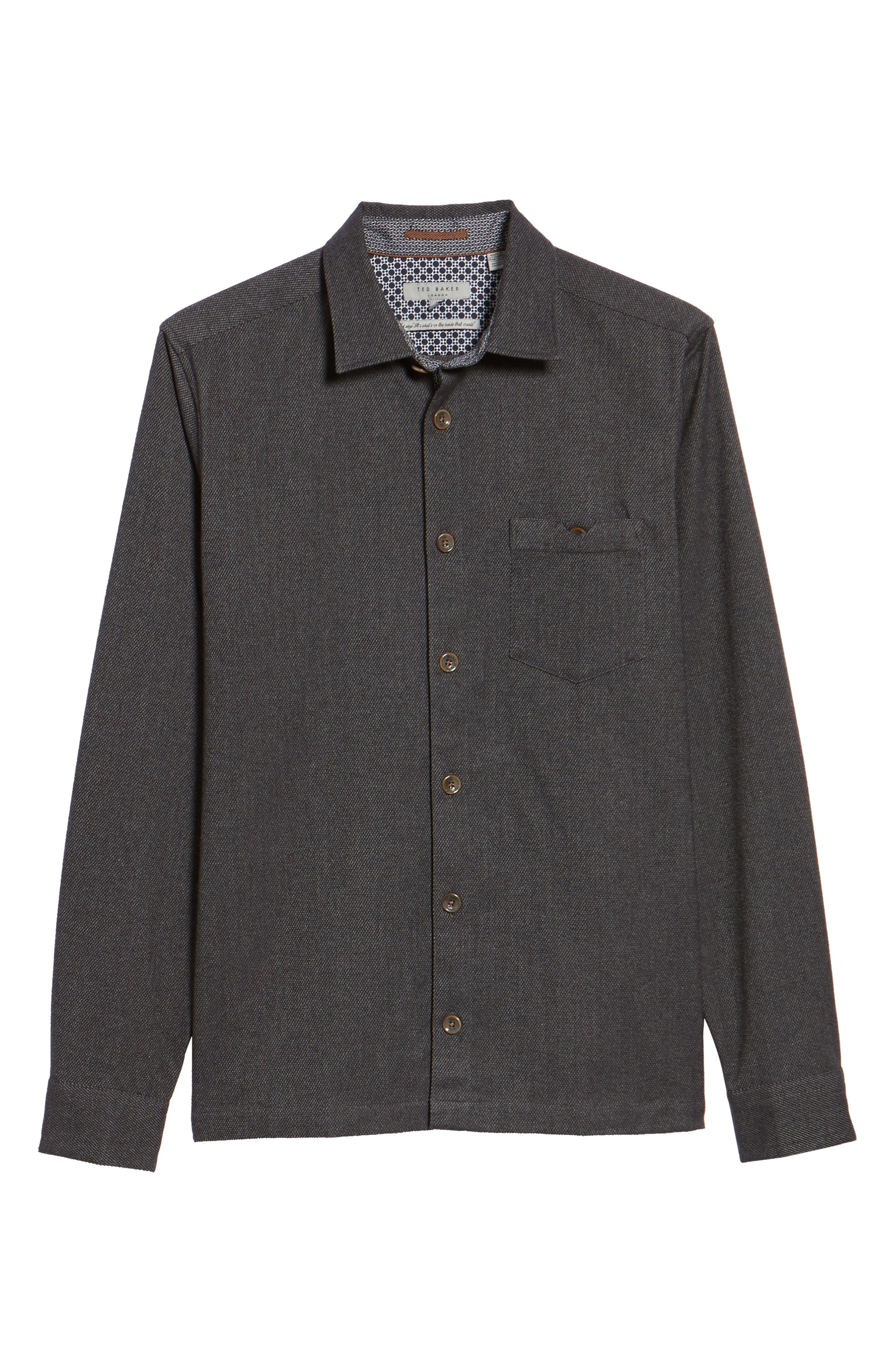 Digon Dobby Shirt,                             Alternate thumbnail 6, color,                             Grey
