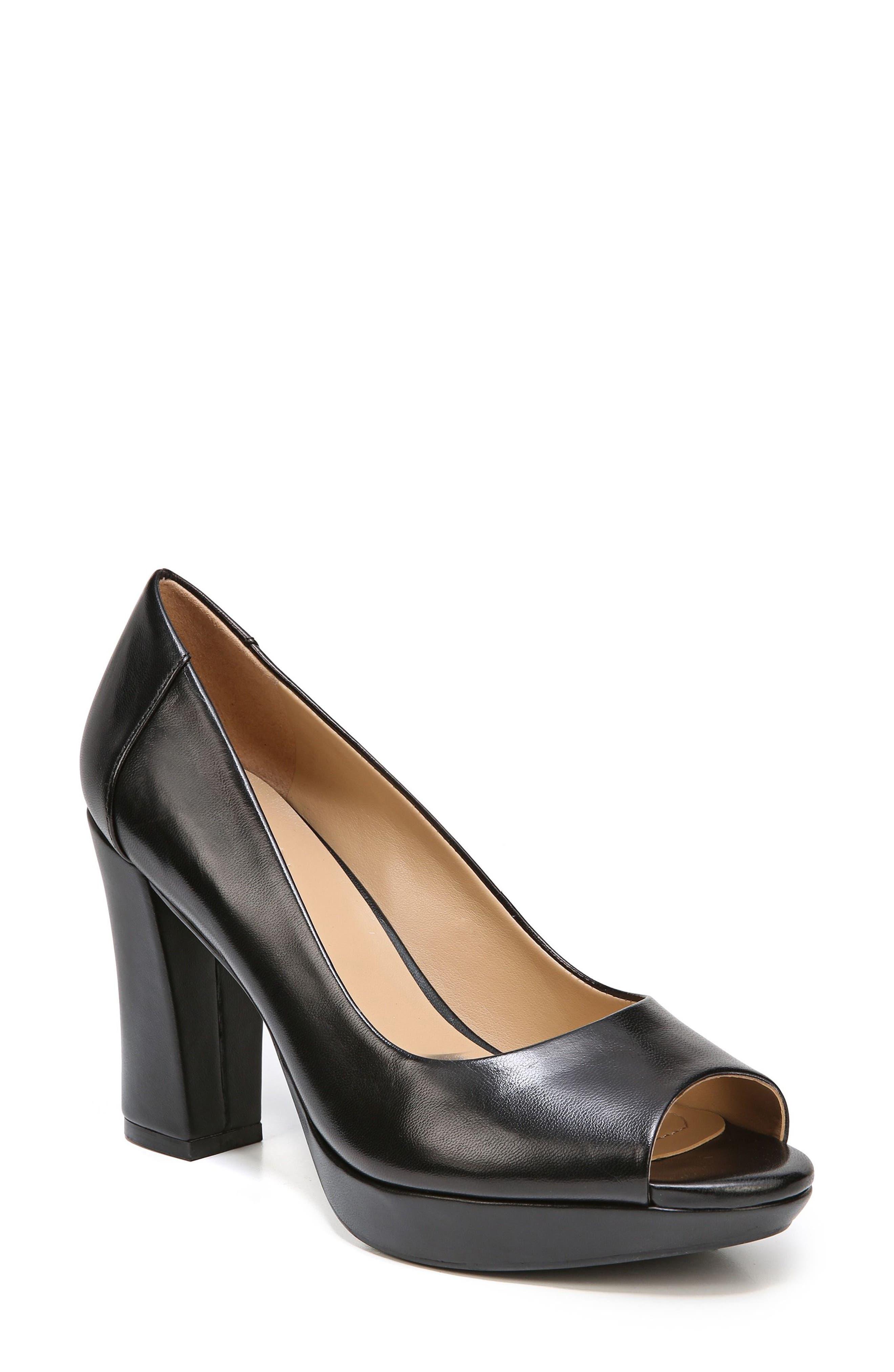 Amie Pump,                         Main,                         color, Black Leather