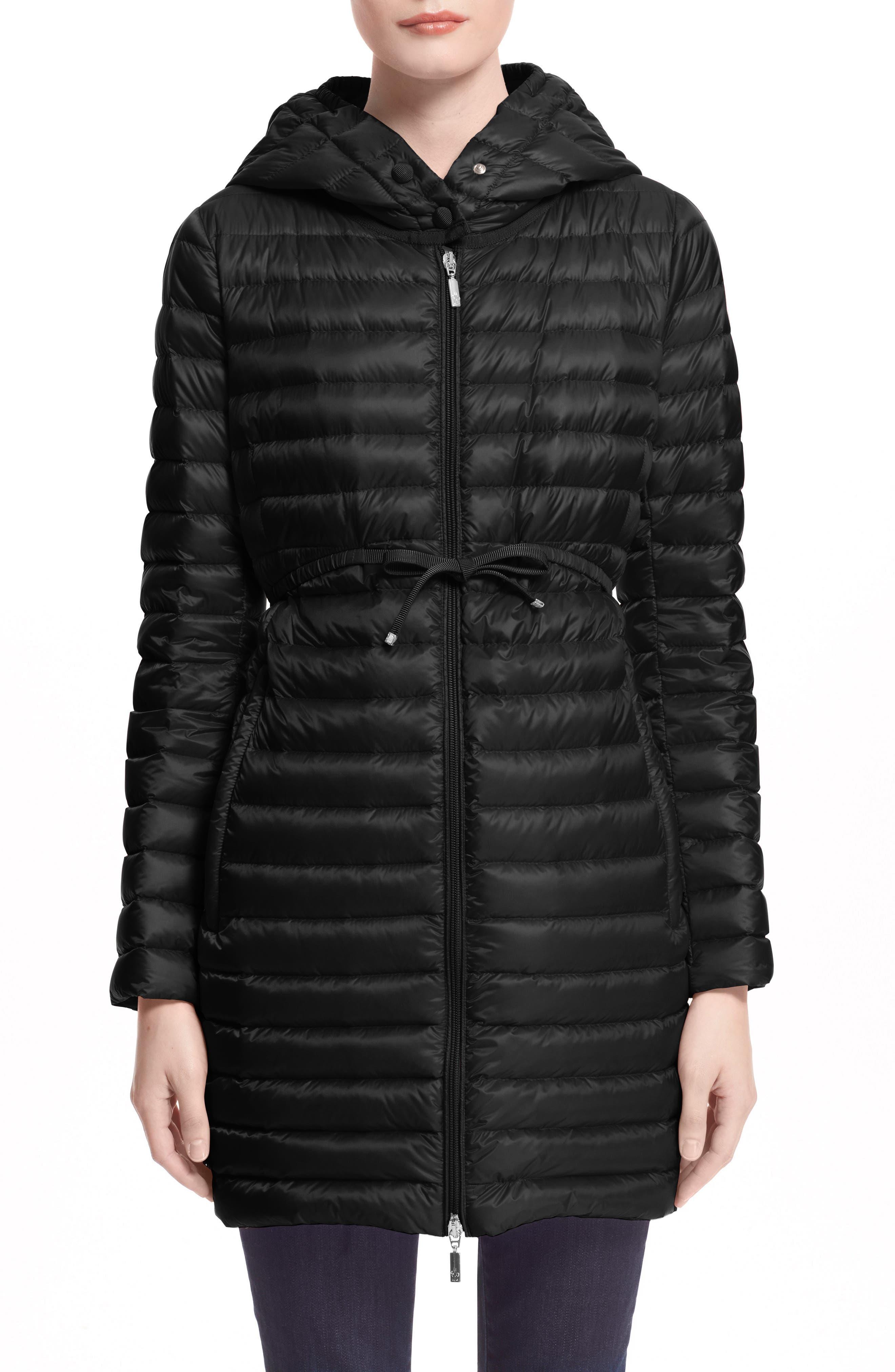 Alternate Image 1 Selected - Moncler Barbel Water Resistant Long Hooded Down Jacket