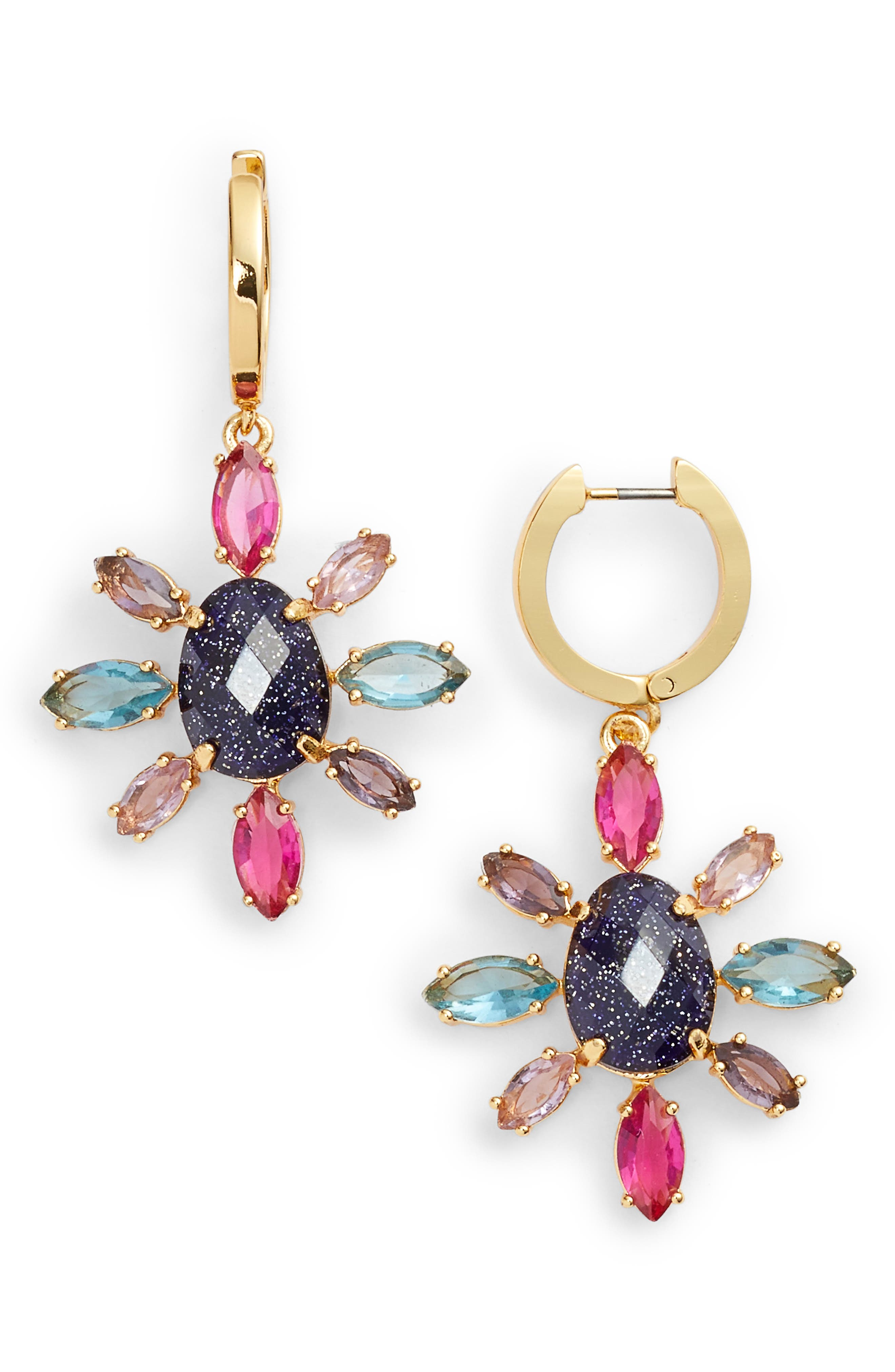 kate spade new york night sky drop earrings