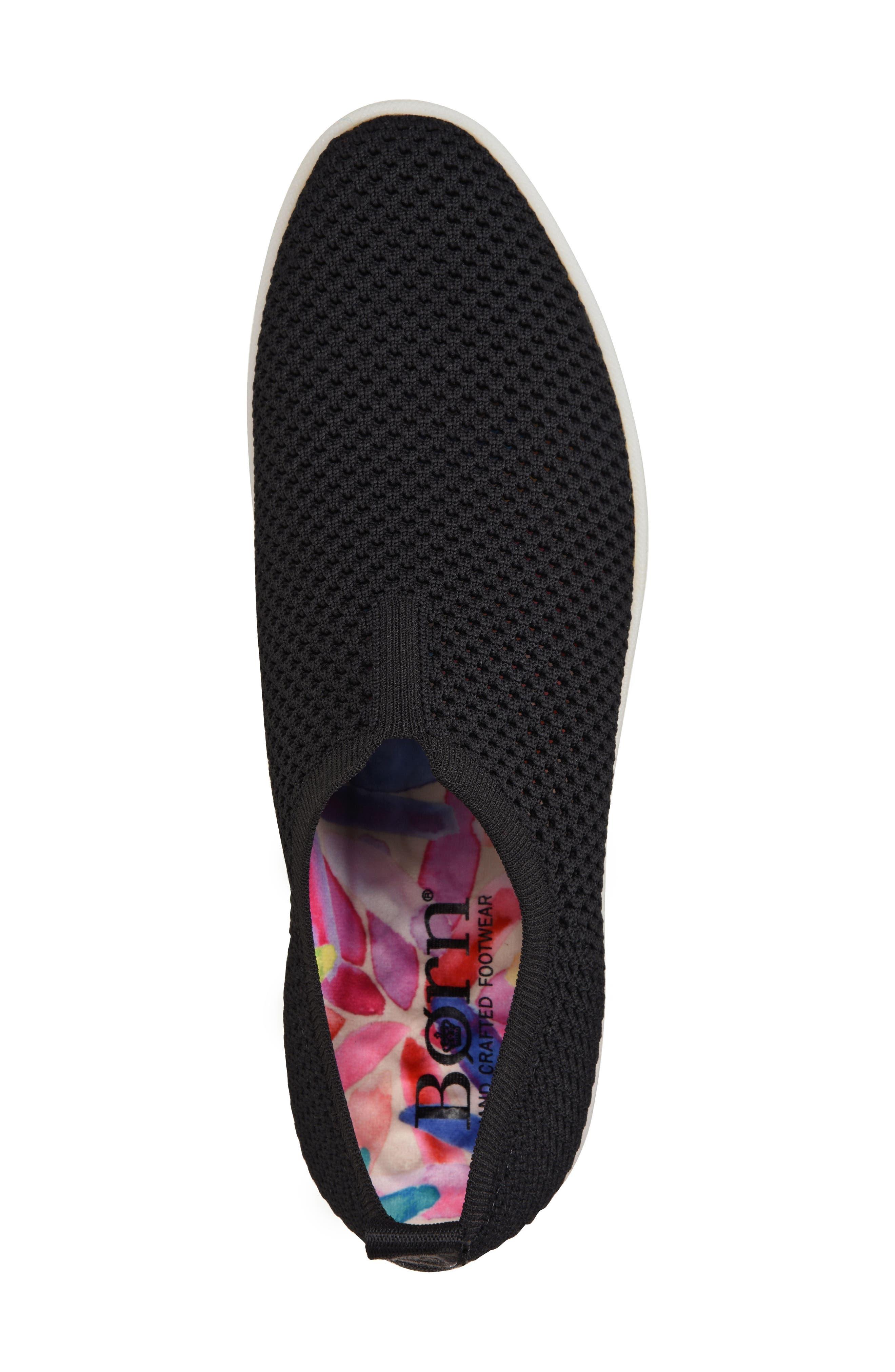 Hazy Slip-On Sneaker,                             Alternate thumbnail 5, color,                             Black Fabric