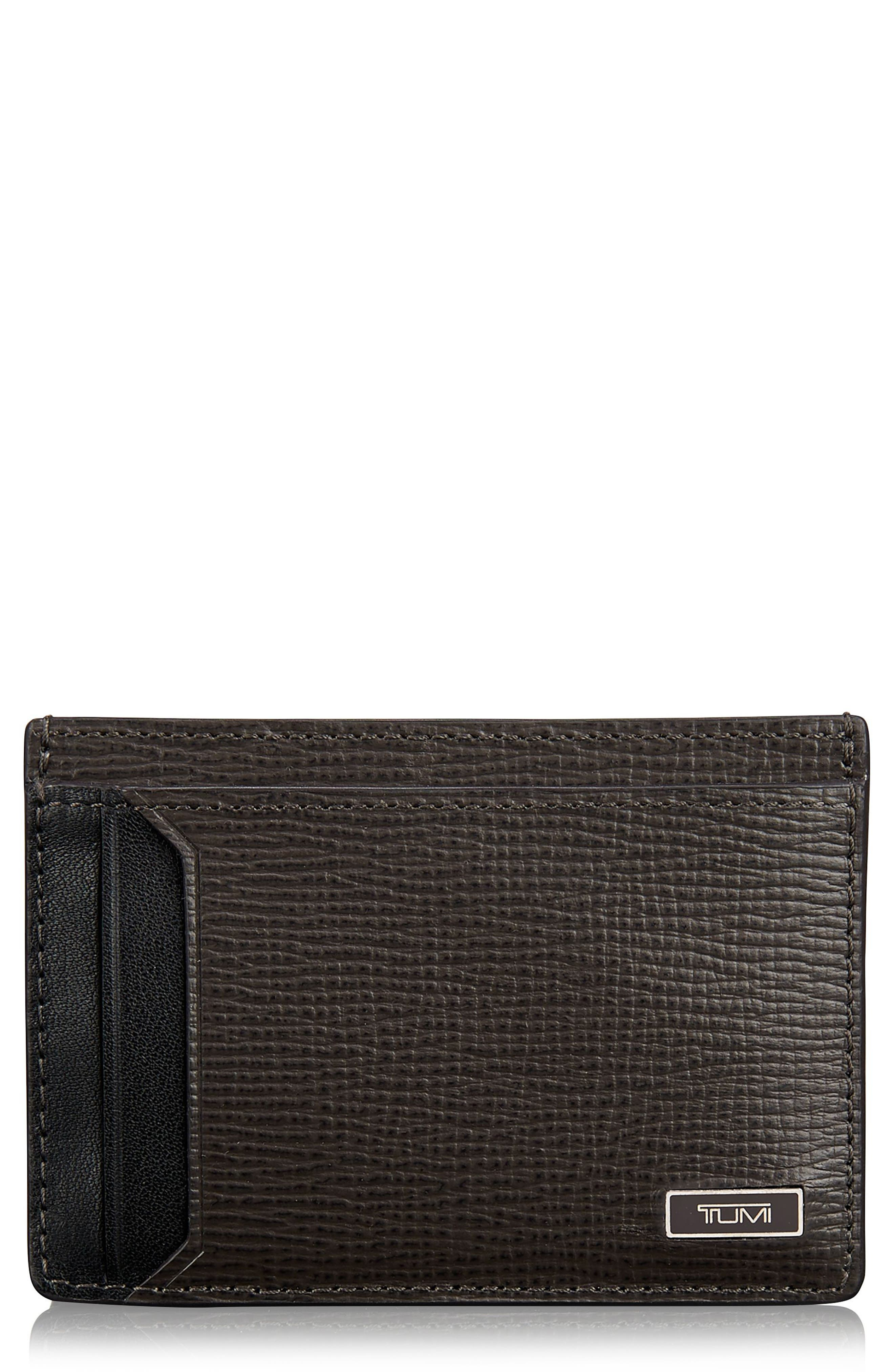 Tumi Monaco Leather Money Clip Card Case