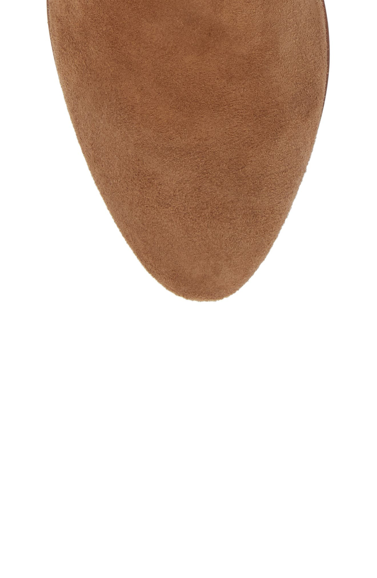 Tawny Bootie,                             Alternate thumbnail 5, color,                             Khaki Suede