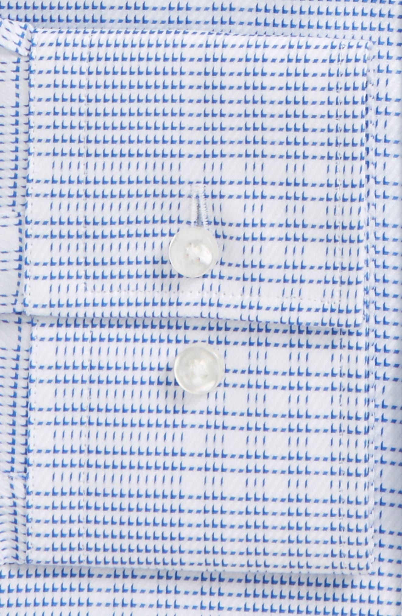 Slim Fit Easy Iron Plaid Dress Shirt,                             Alternate thumbnail 2, color,                             Blue