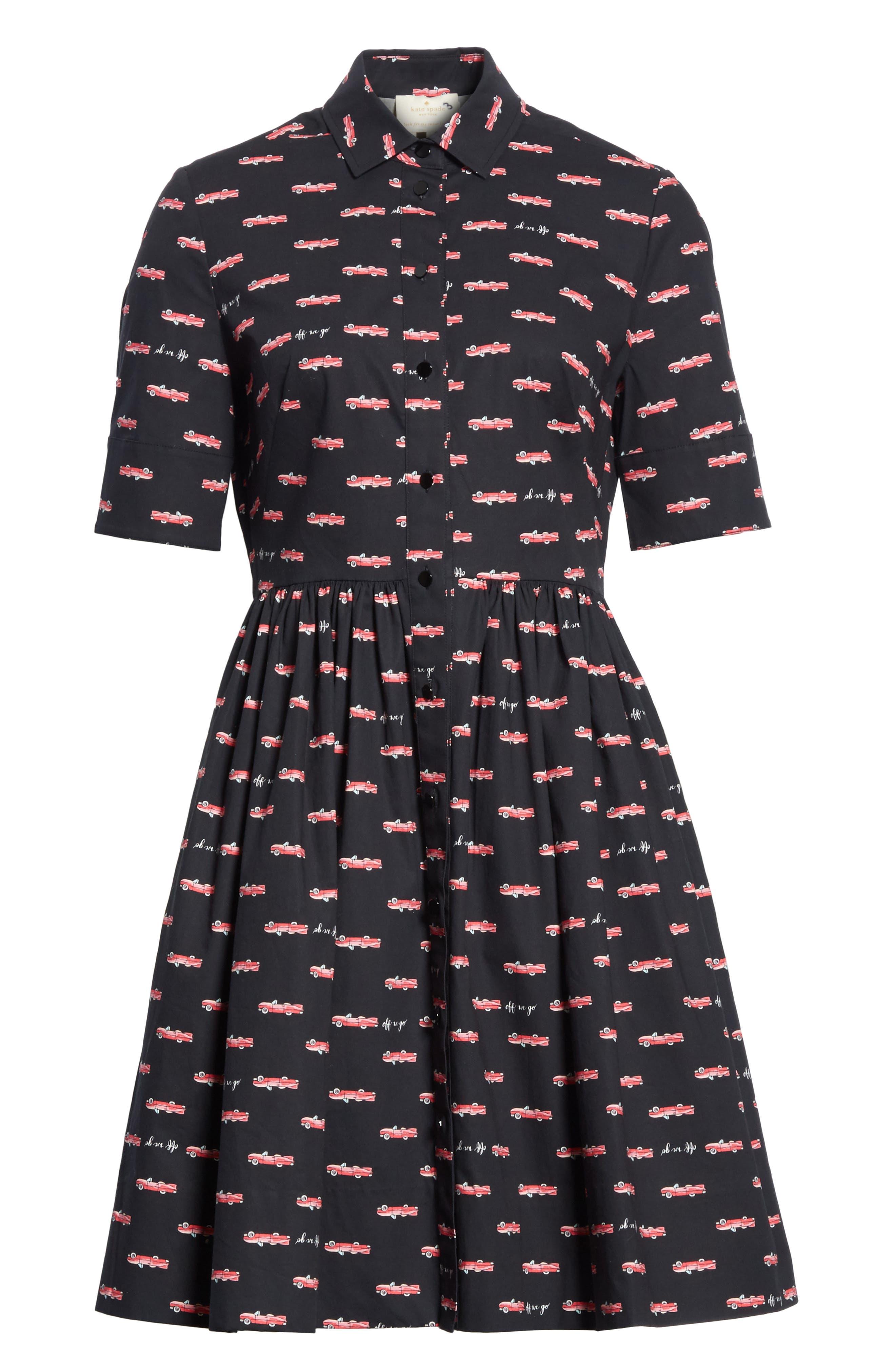 Alternate Image 6  - kate spade hot rod poplin fit & flare dress