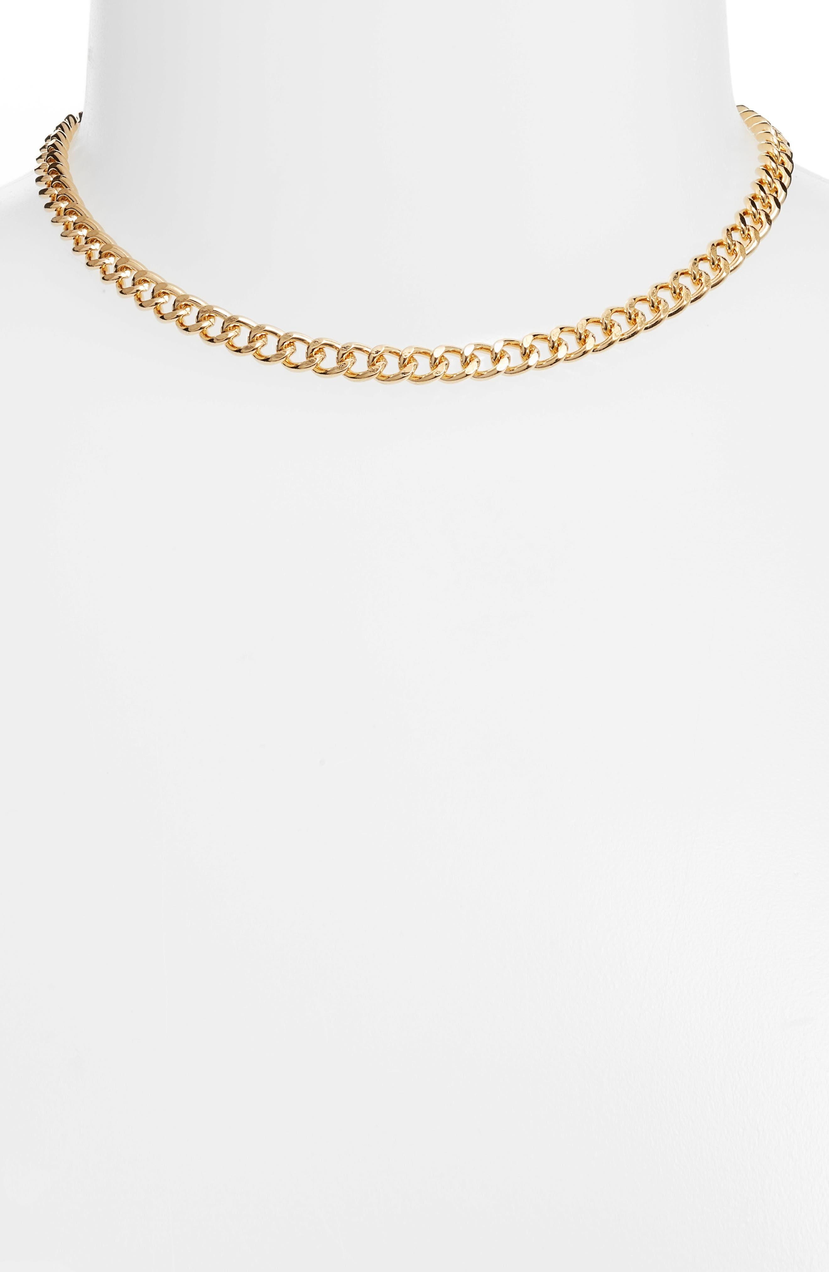 Leah Collar Necklace,                             Main thumbnail 1, color,                             Gold