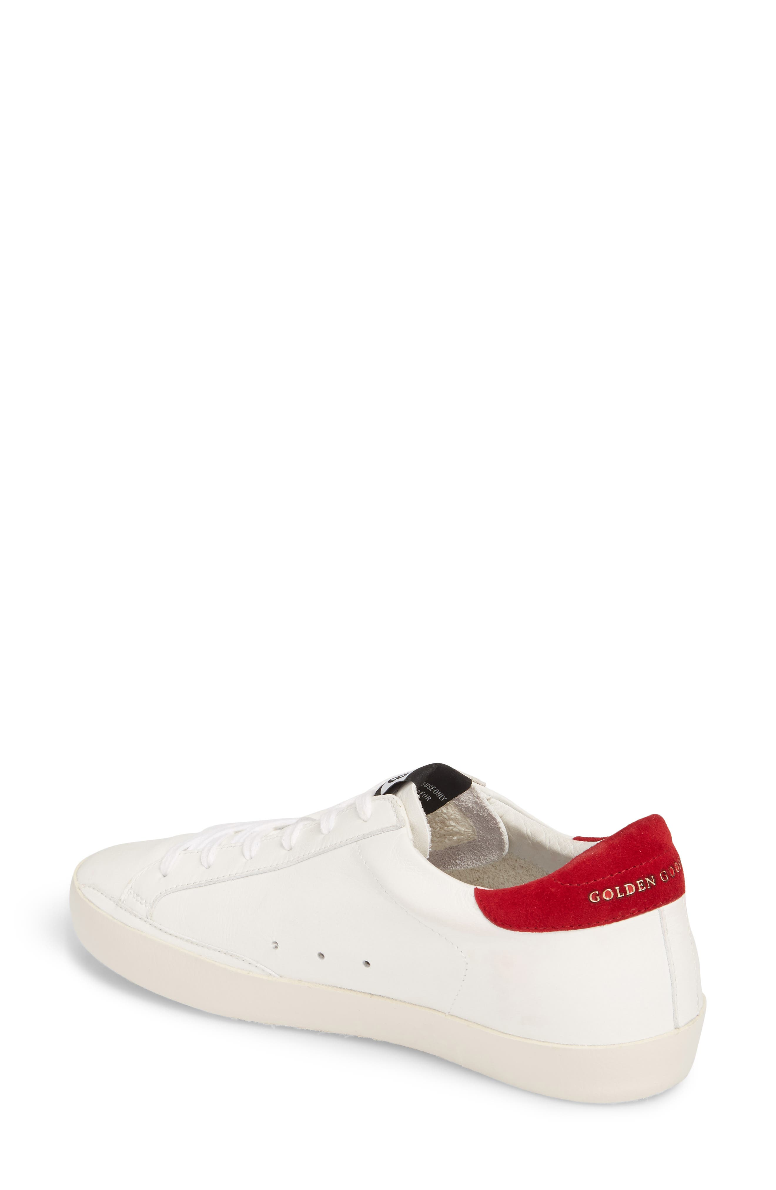 Superstar Low Top Sneaker,                             Alternate thumbnail 2, color,                             White/ Bordeaux