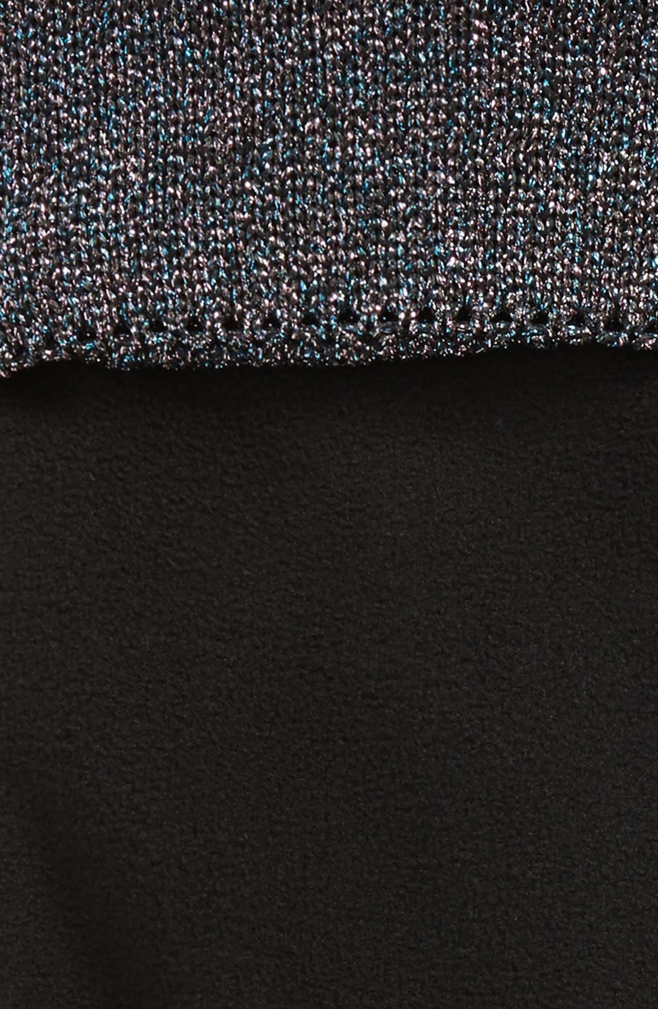 Original Tall Glitter Cuff Welly Boot Socks,                             Alternate thumbnail 2, color,                             Black Multi