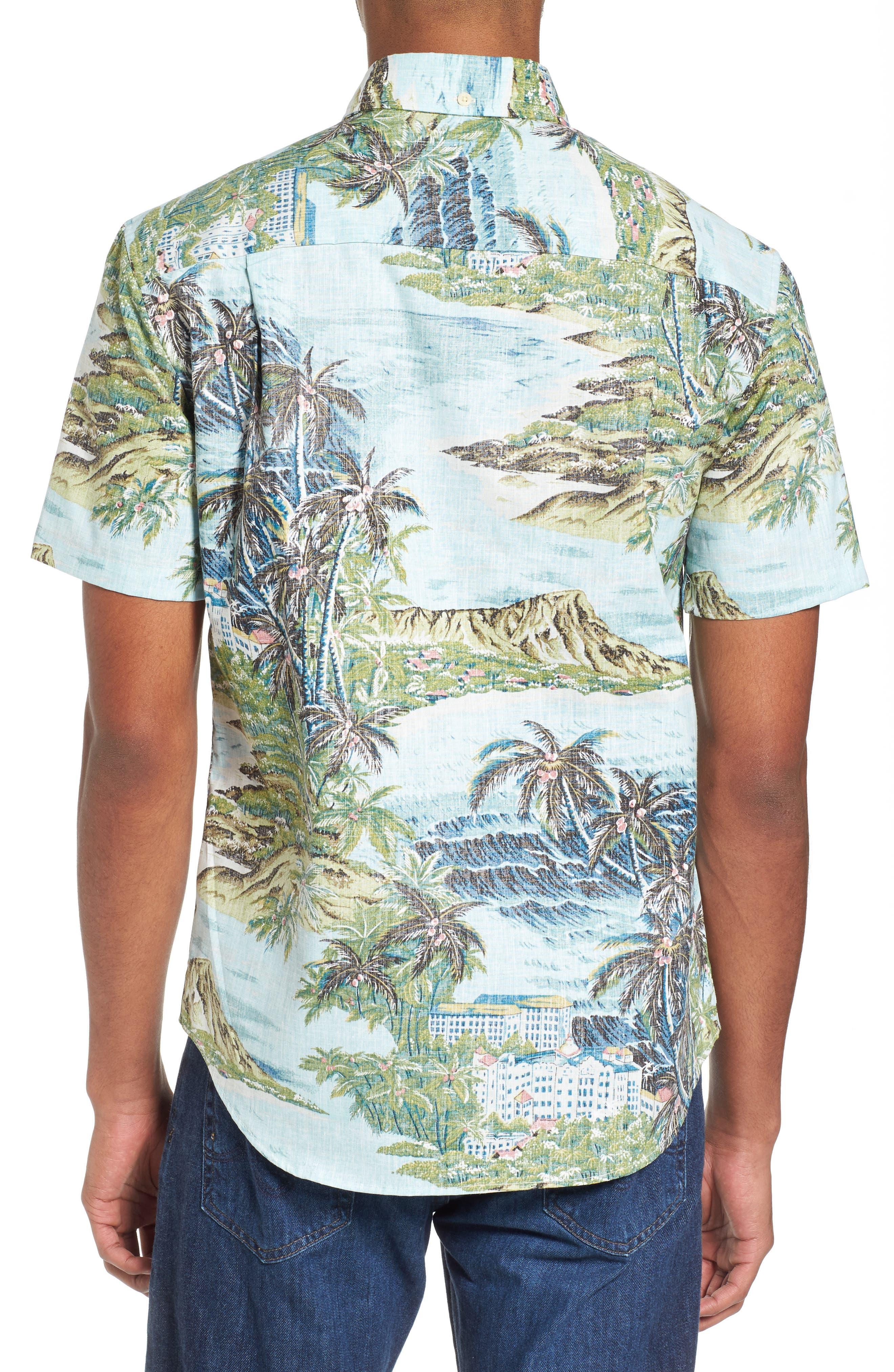 Diamond Head Classic Fit Print Sport Shirt,                             Alternate thumbnail 2, color,                             Pale Blue