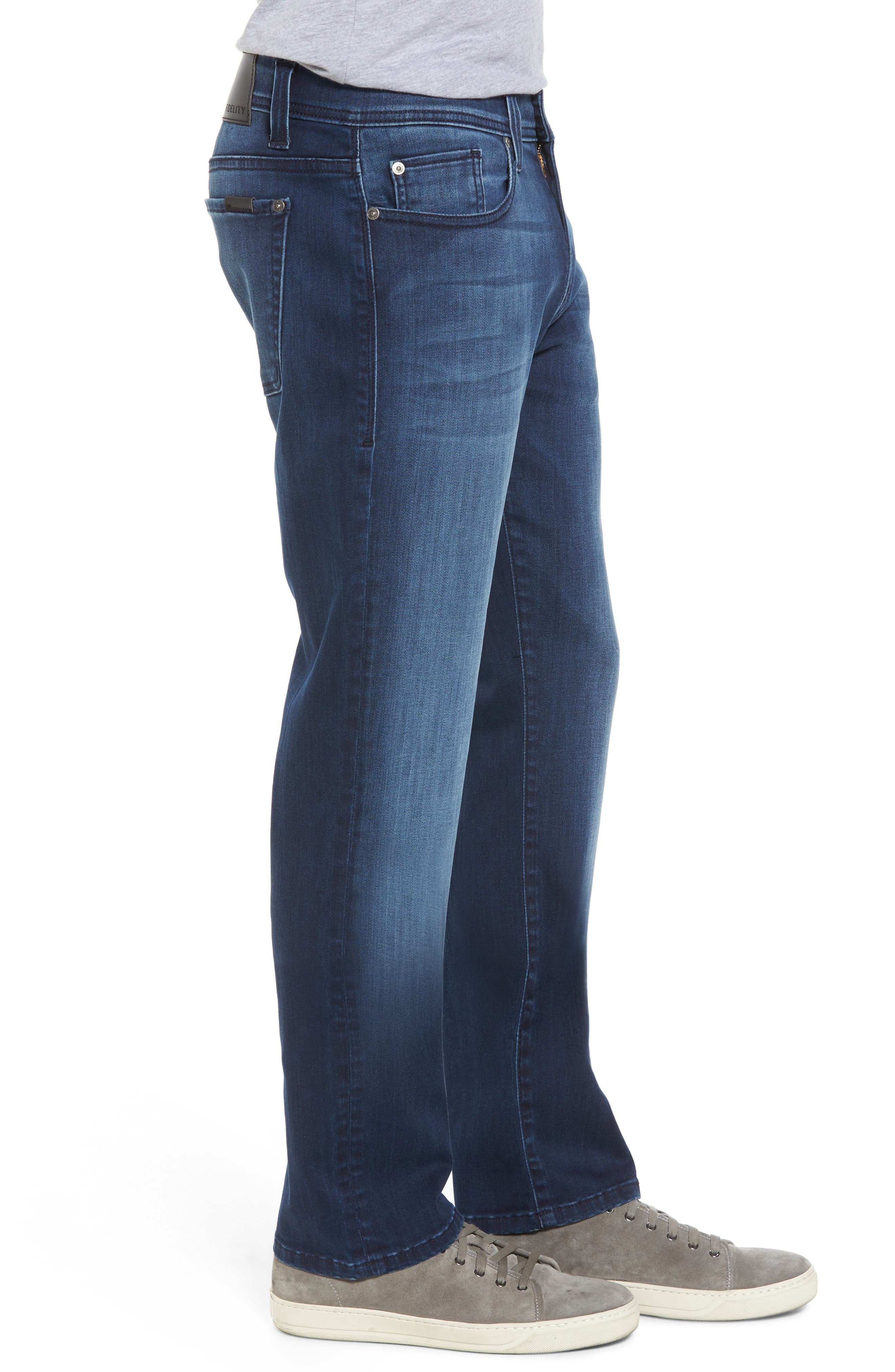 Jimmy Slim Straight Leg Jeans,                             Alternate thumbnail 3, color,                             Galaxy Blue
