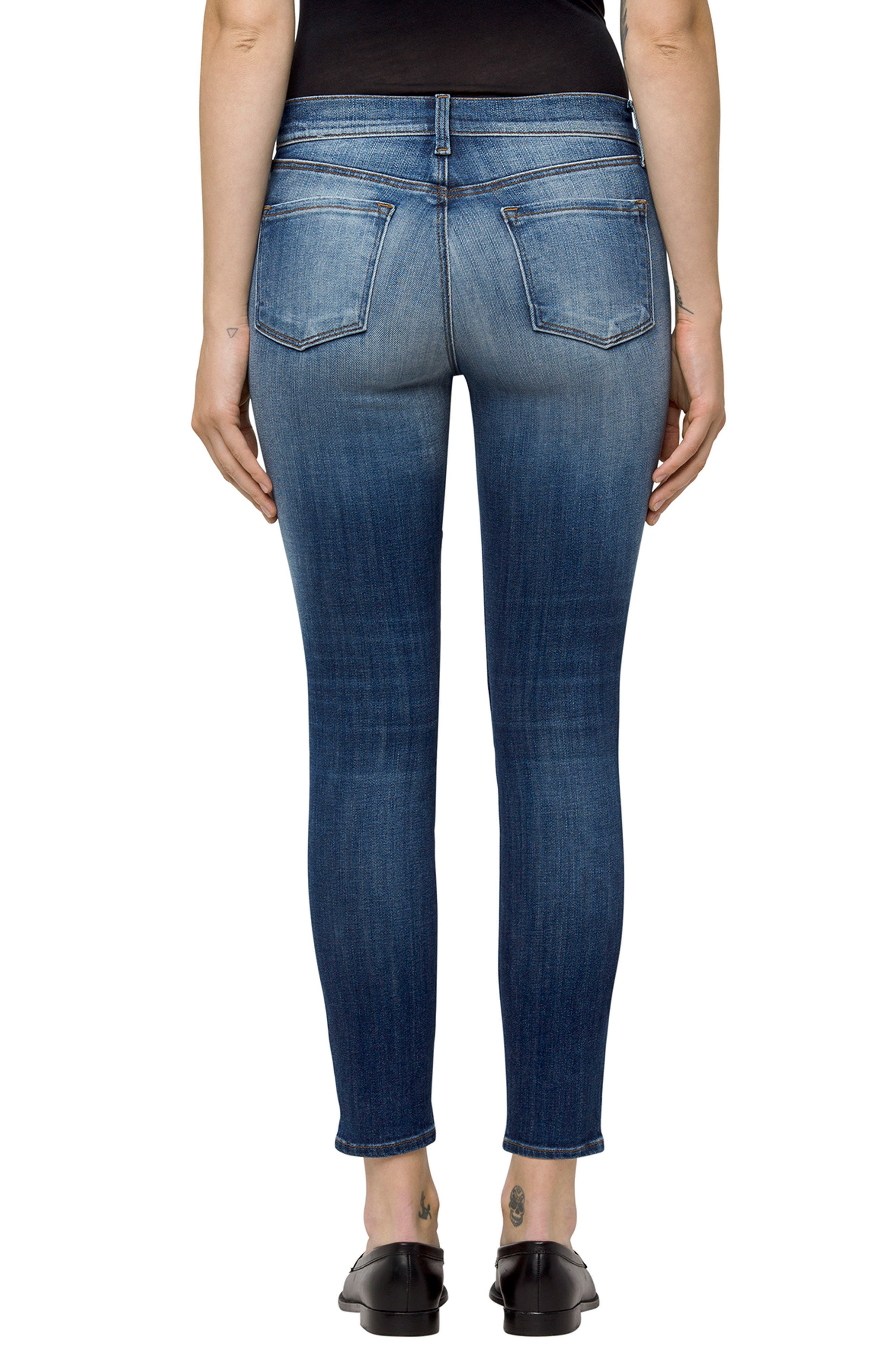 835 Crop Skinny Jeans,                             Alternate thumbnail 2, color,                             Jasper Patched
