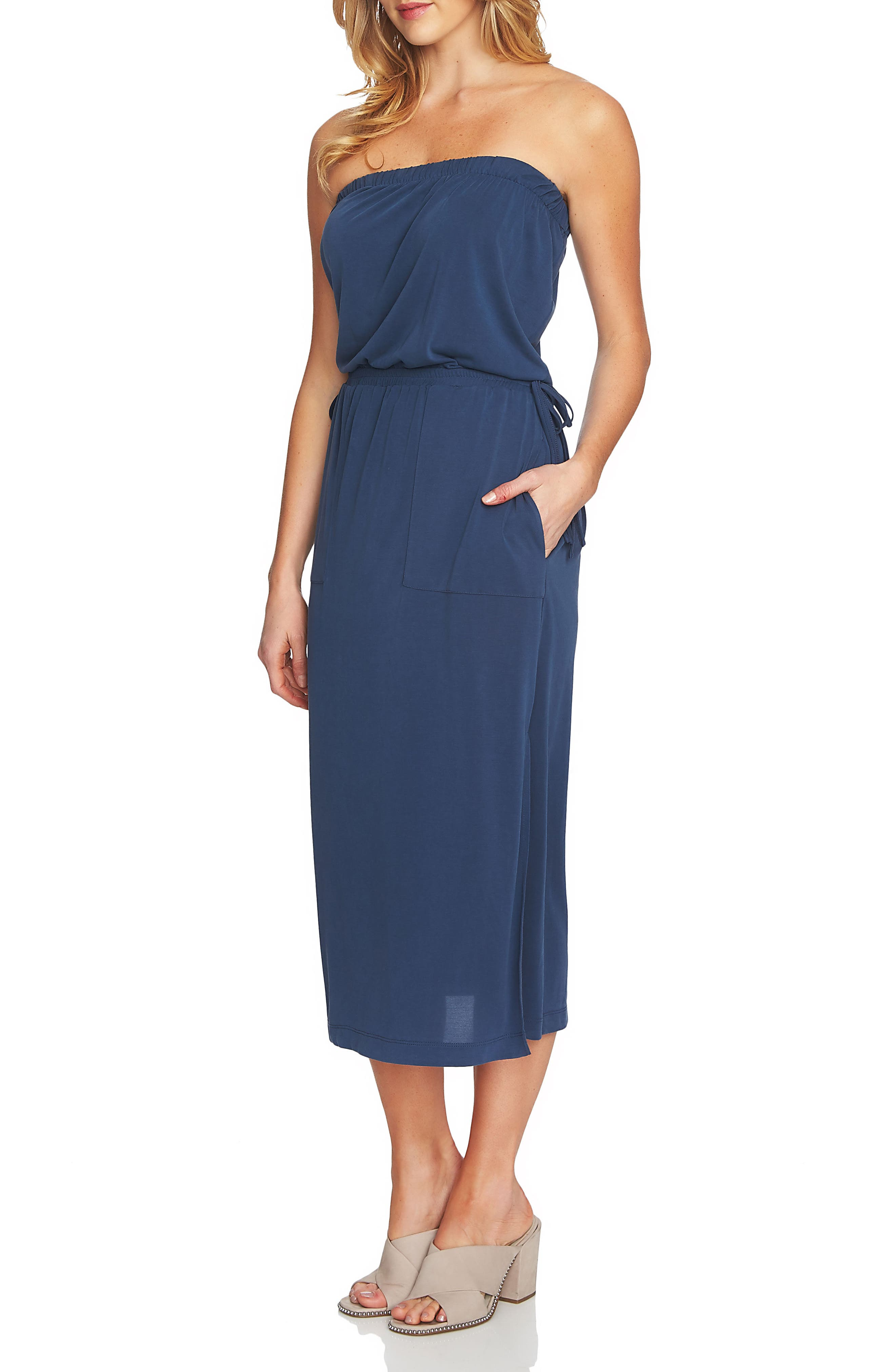 1.STATE Strapless Maxi Dress