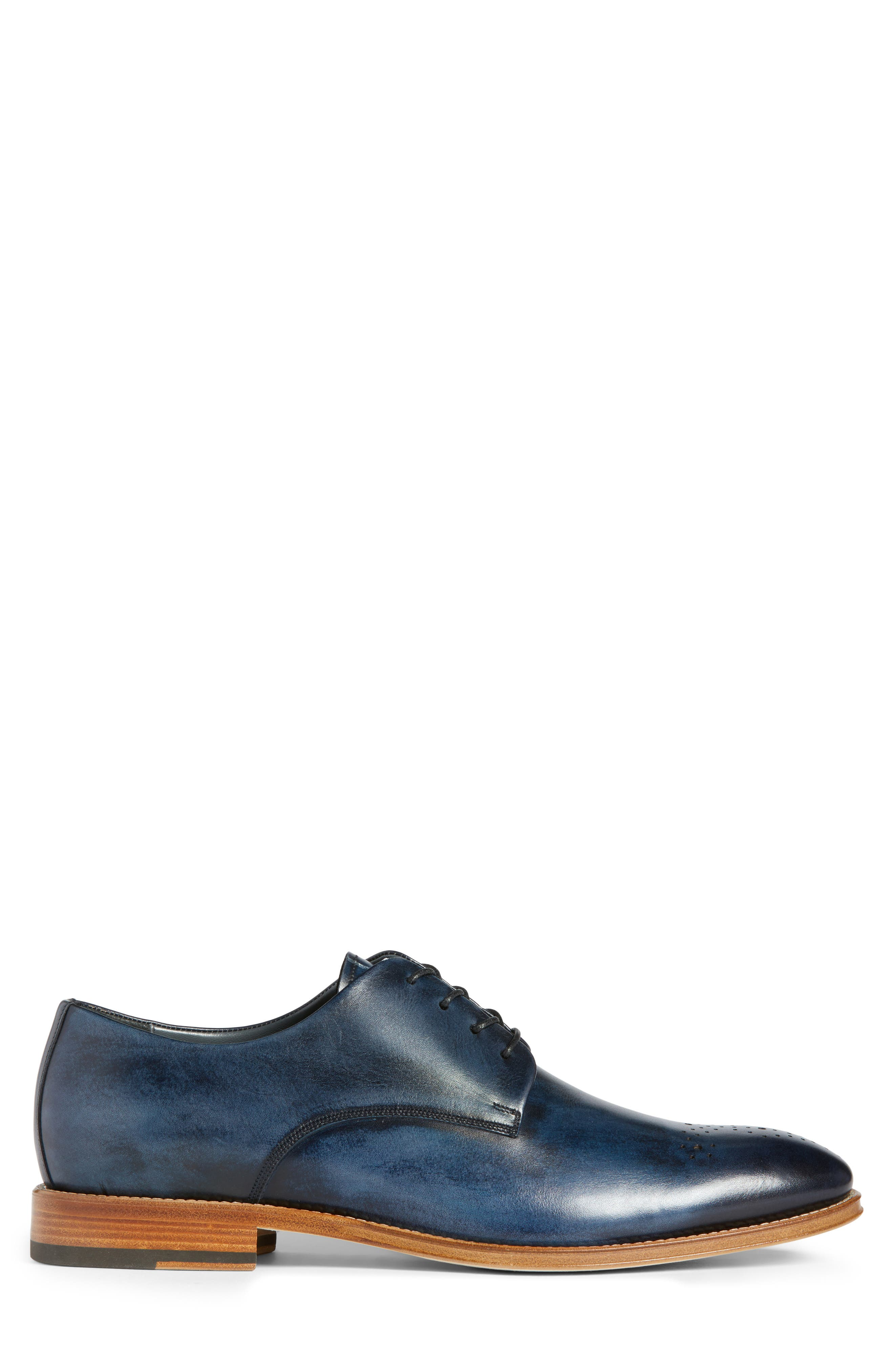 Alessandro Derby,                             Alternate thumbnail 3, color,                             Navy Leather