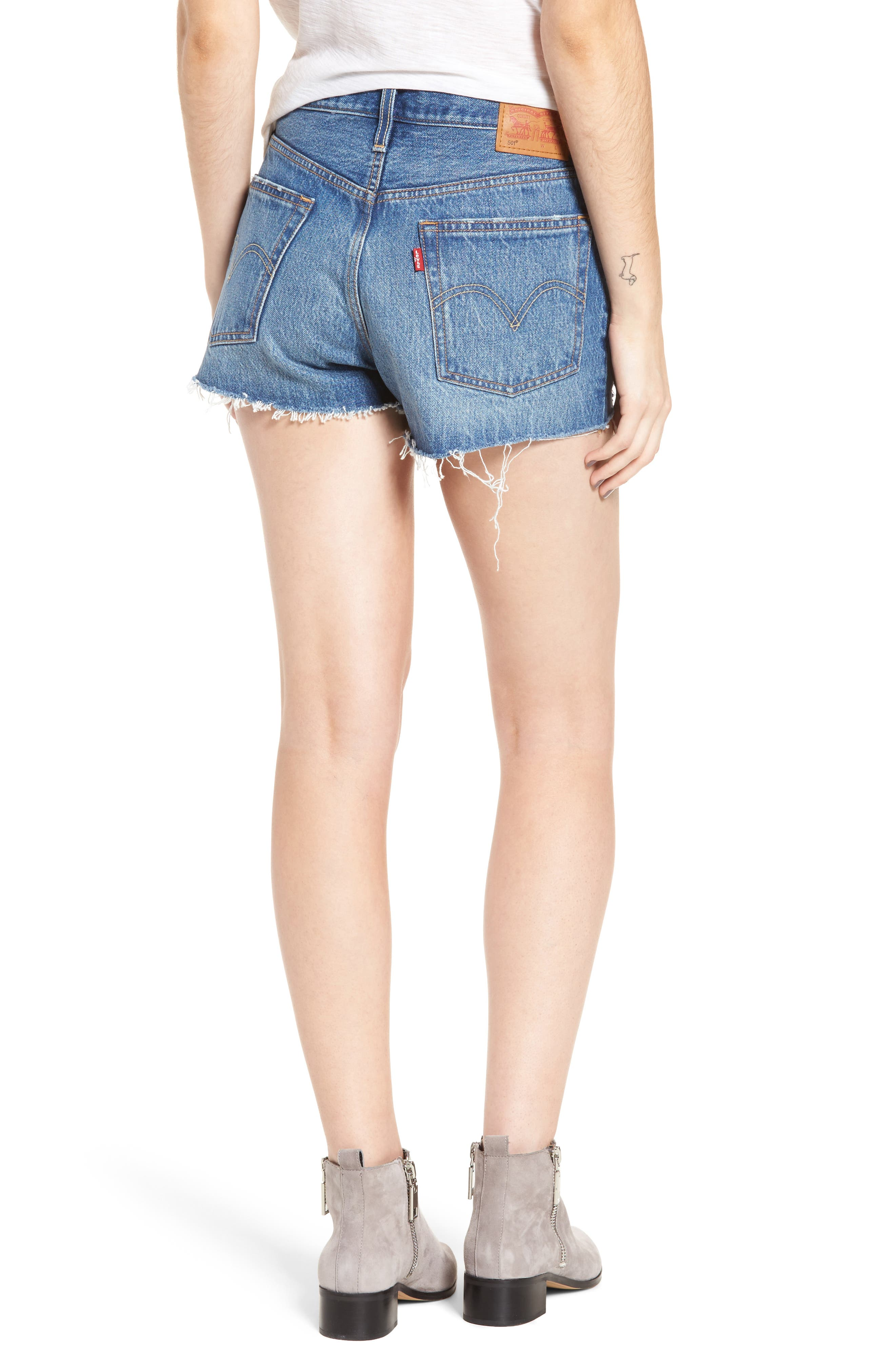 501<sup>®</sup> Cutoff Denim Shorts,                             Alternate thumbnail 2, color,                             Back To Your Heart