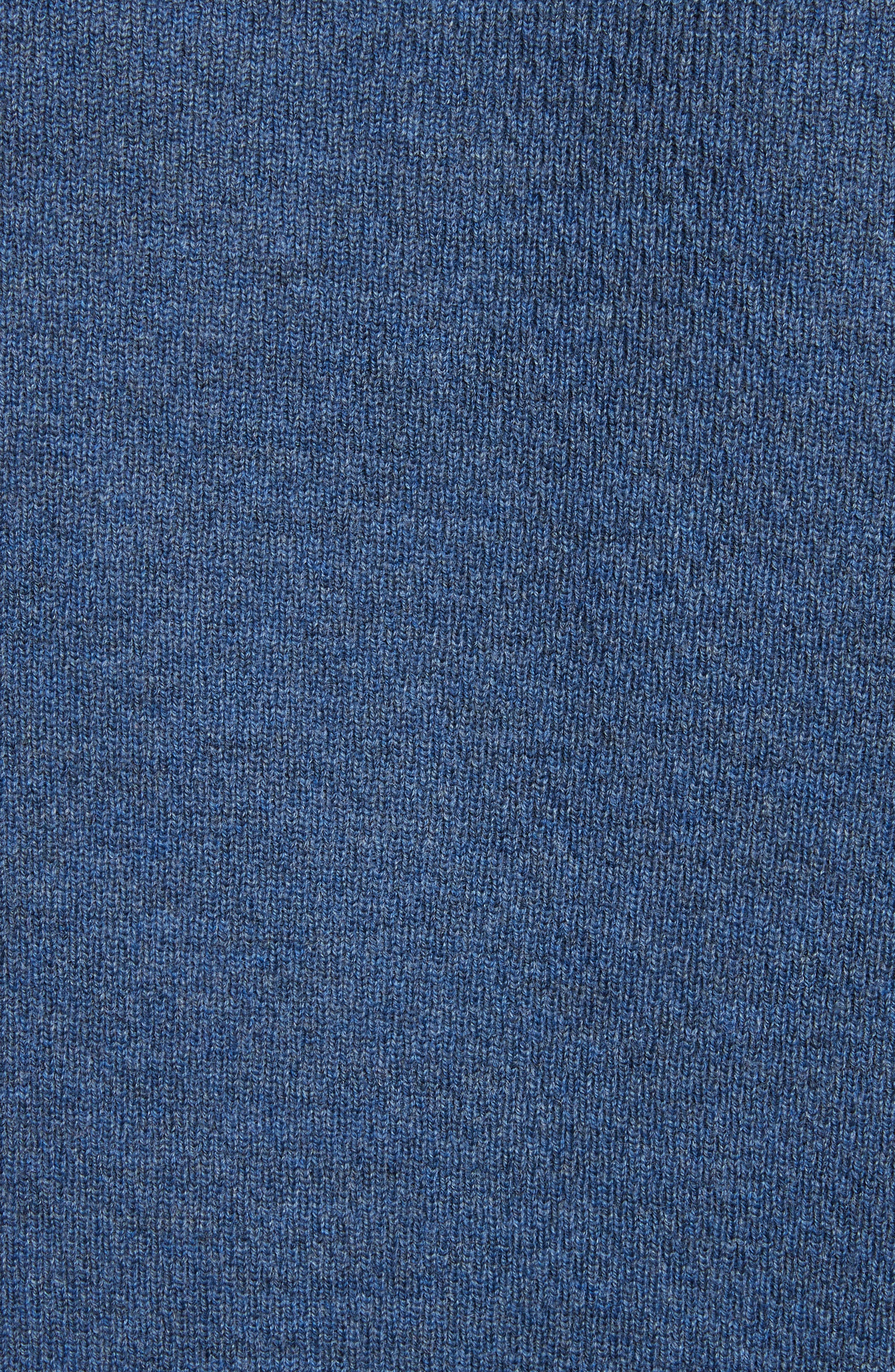 Gregory Merino Wool Blend Thermal Henley,                             Alternate thumbnail 5, color,                             Heather Blue