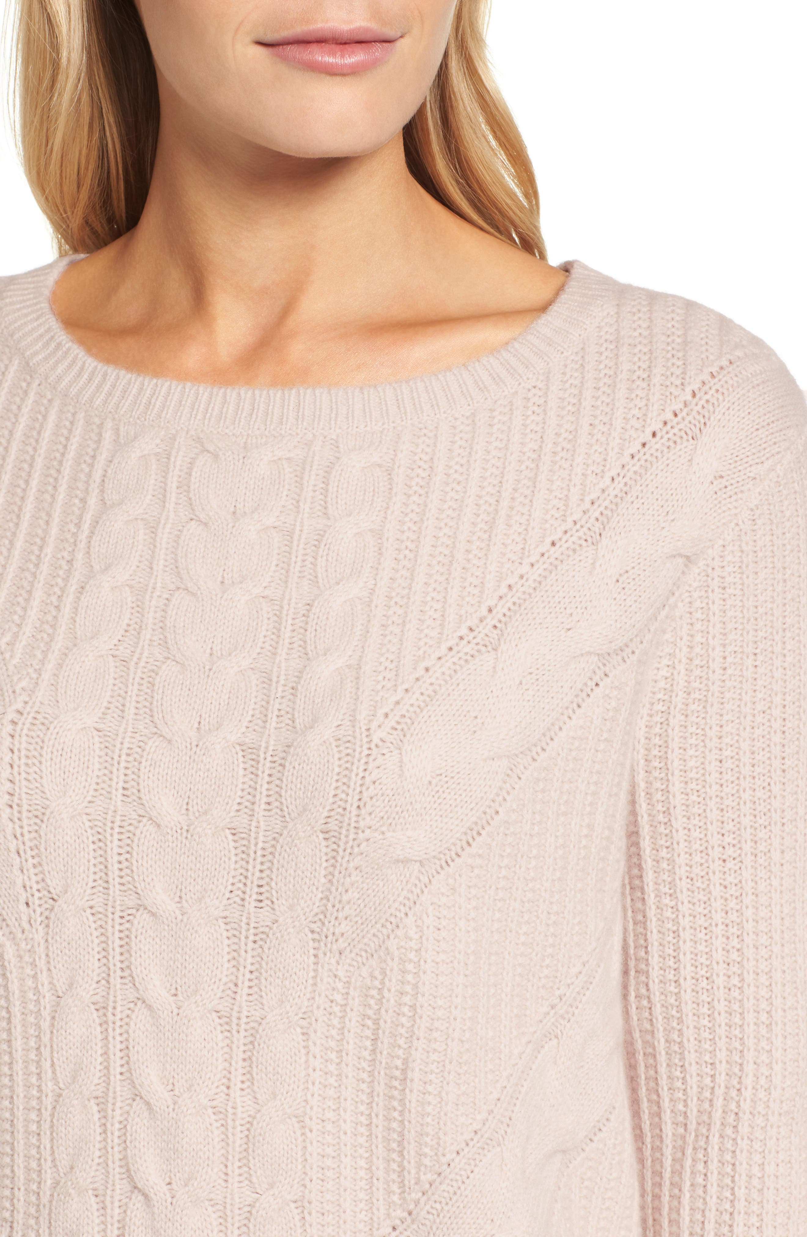 Alternate Image 4  - Emerson Rose Cashmere Cable Tunic Sweater