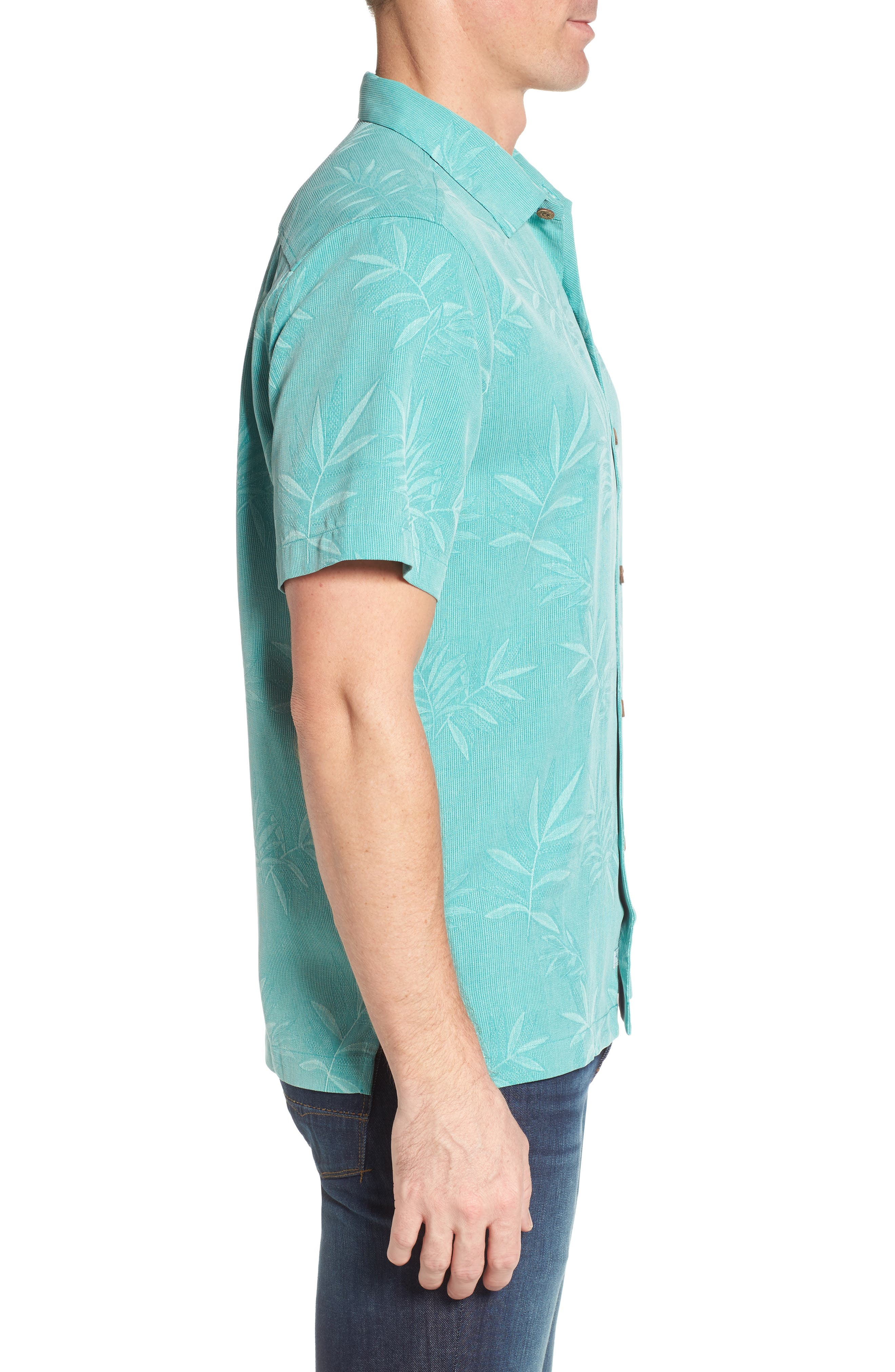 Alternate Image 3  - Tommy Bahama Luau Floral Silk Shirt