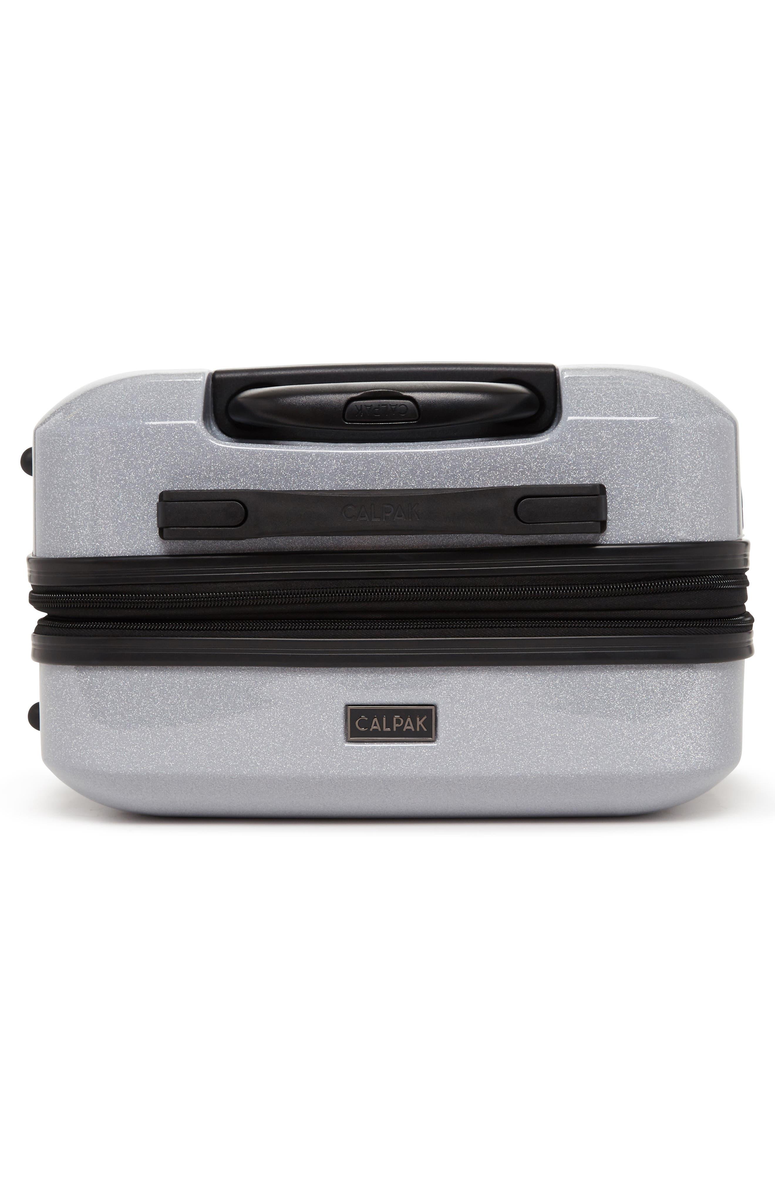 Medora Glitter 28-Inch & 20-Inch Hardshell Spinner Suitcase & Carry-On Set,                             Alternate thumbnail 4, color,                             Silver Stardust