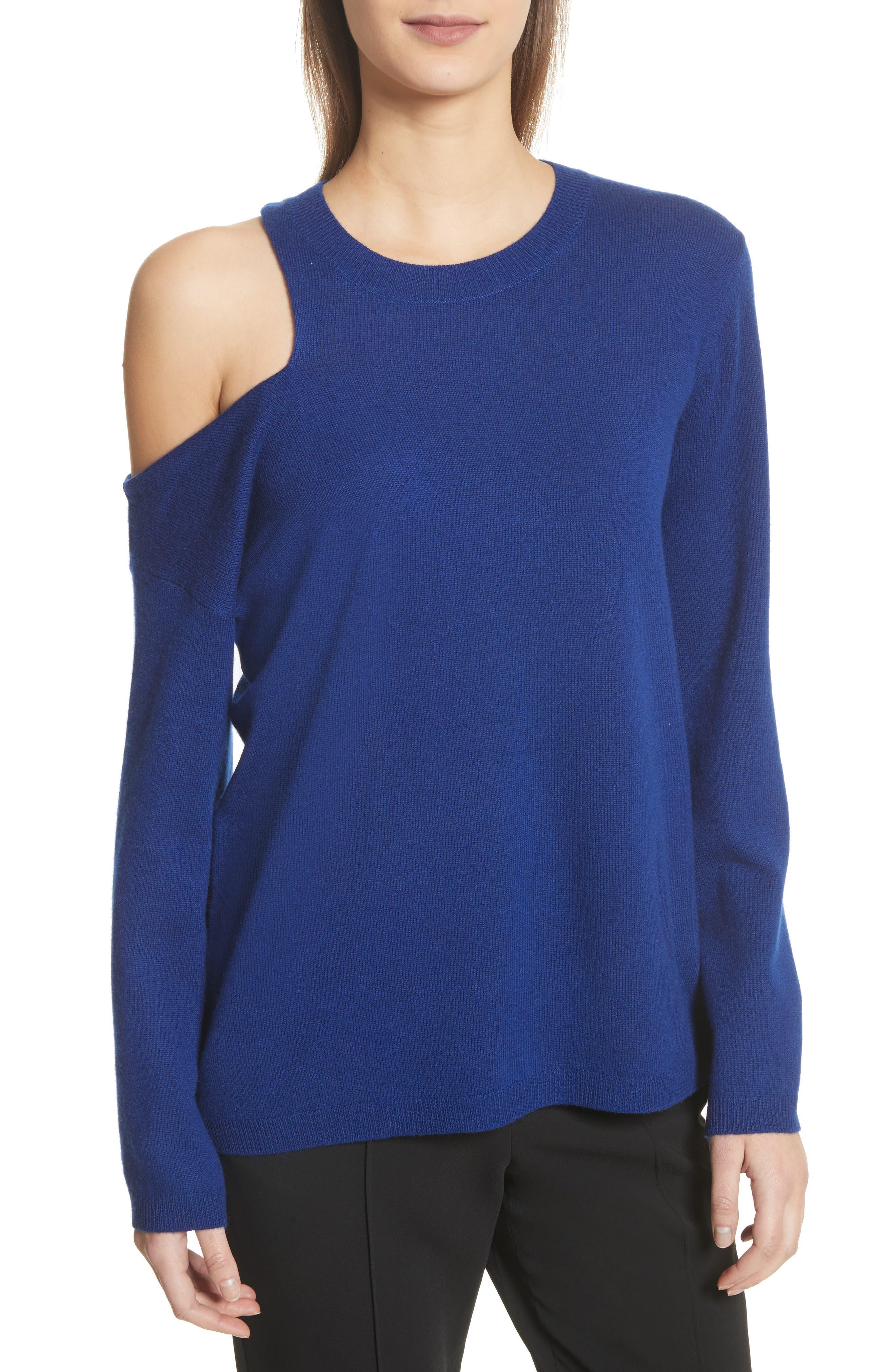 Hamilton Wool & Cashmere Sweater,                         Main,                         color, Deep Cobalt