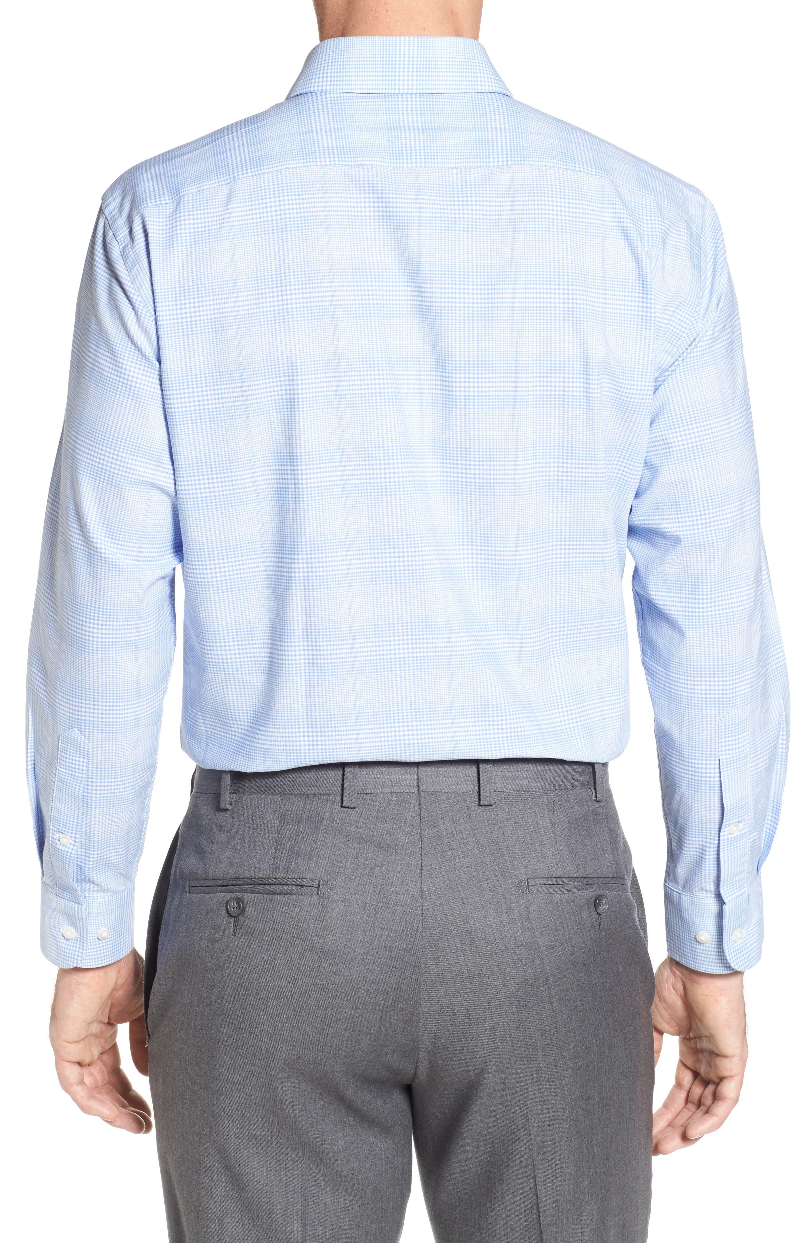 Tech-Smart Traditional Fit Stretch Plaid Dress Shirt,                             Alternate thumbnail 2, color,                             Blue Hydrangea