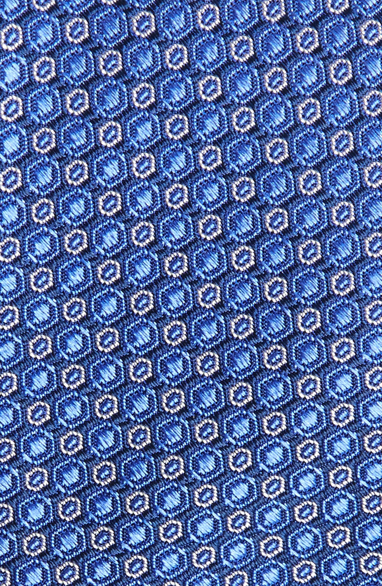 Optical Dot Silk Tie,                             Alternate thumbnail 2, color,                             Cobalt