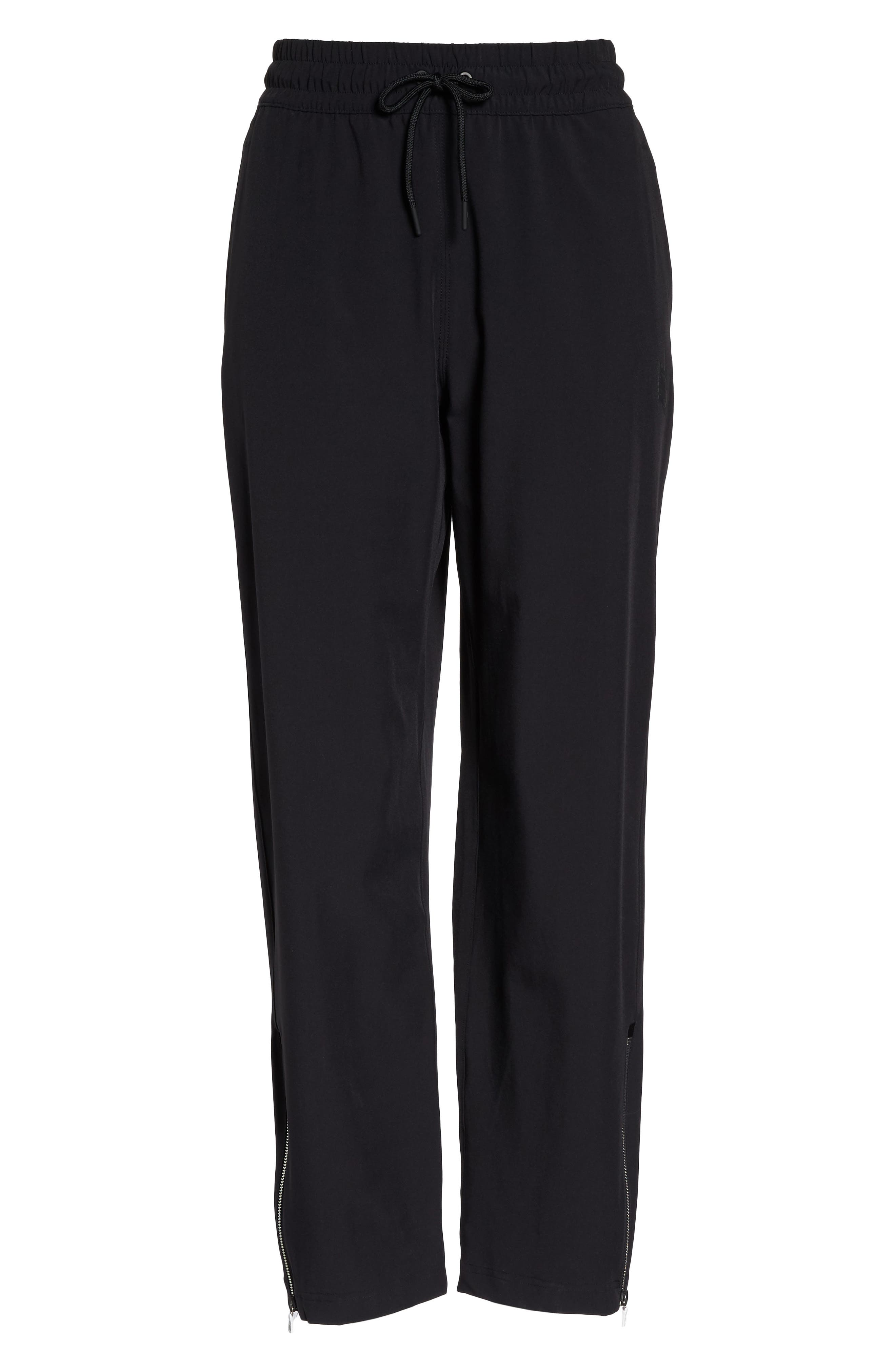 NikeLab Stretch Woven Training Pants,                             Alternate thumbnail 7, color,                             Black/ Black