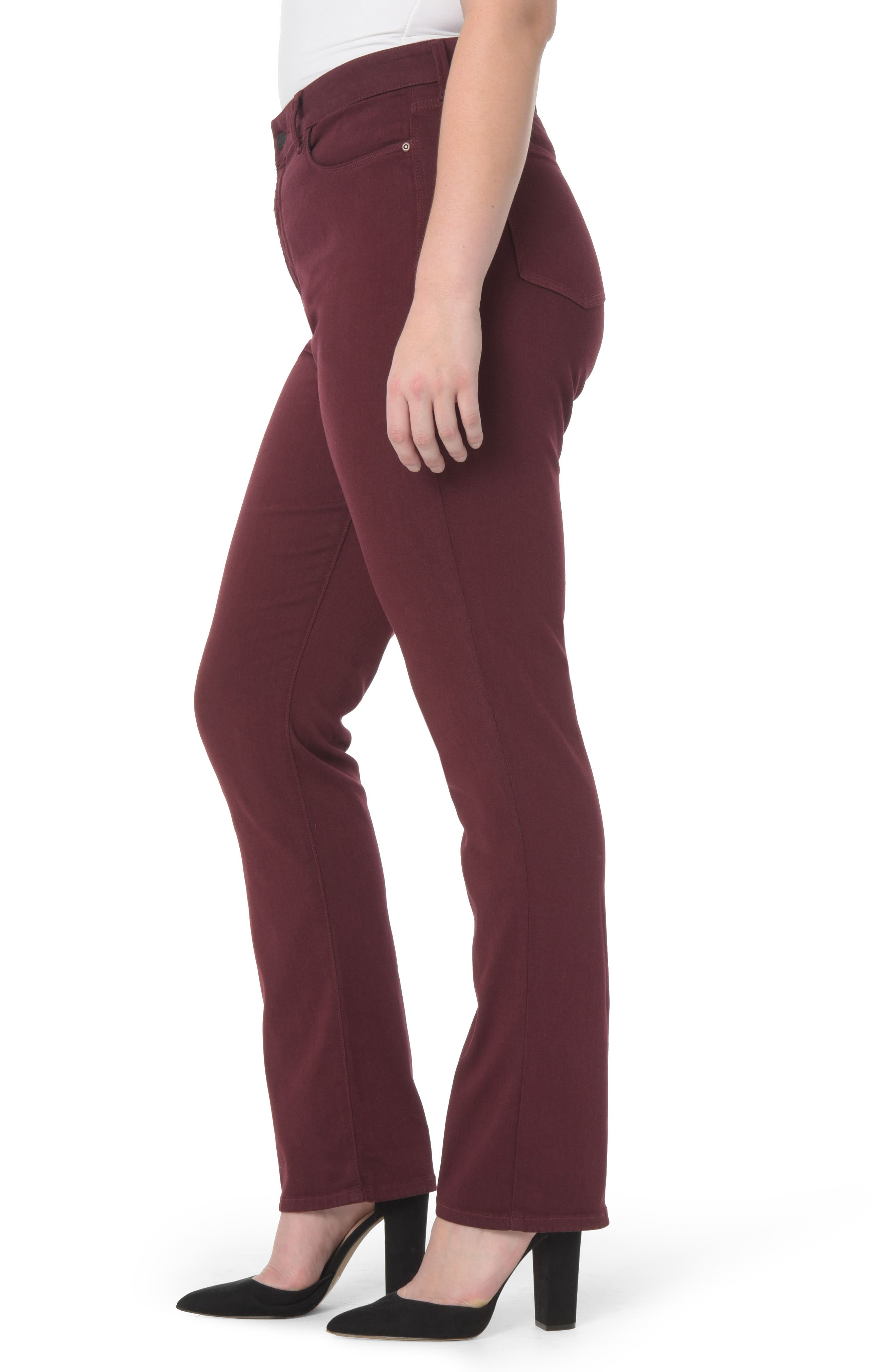 Marilyn Stretch Straight Leg Jeans,                             Alternate thumbnail 2, color,                             Deep Currant