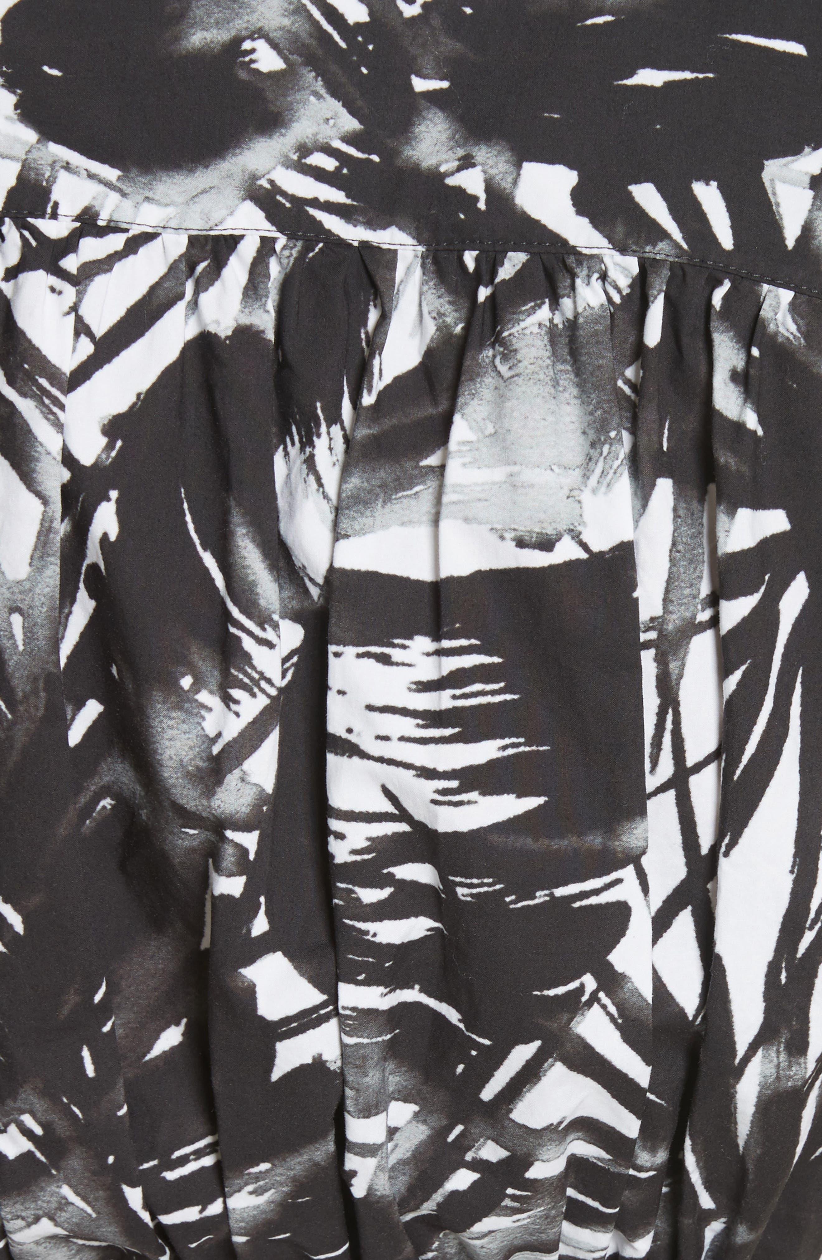 Dip Dye Wrap Waist Shirtdress,                             Alternate thumbnail 7, color,                             Black Multi