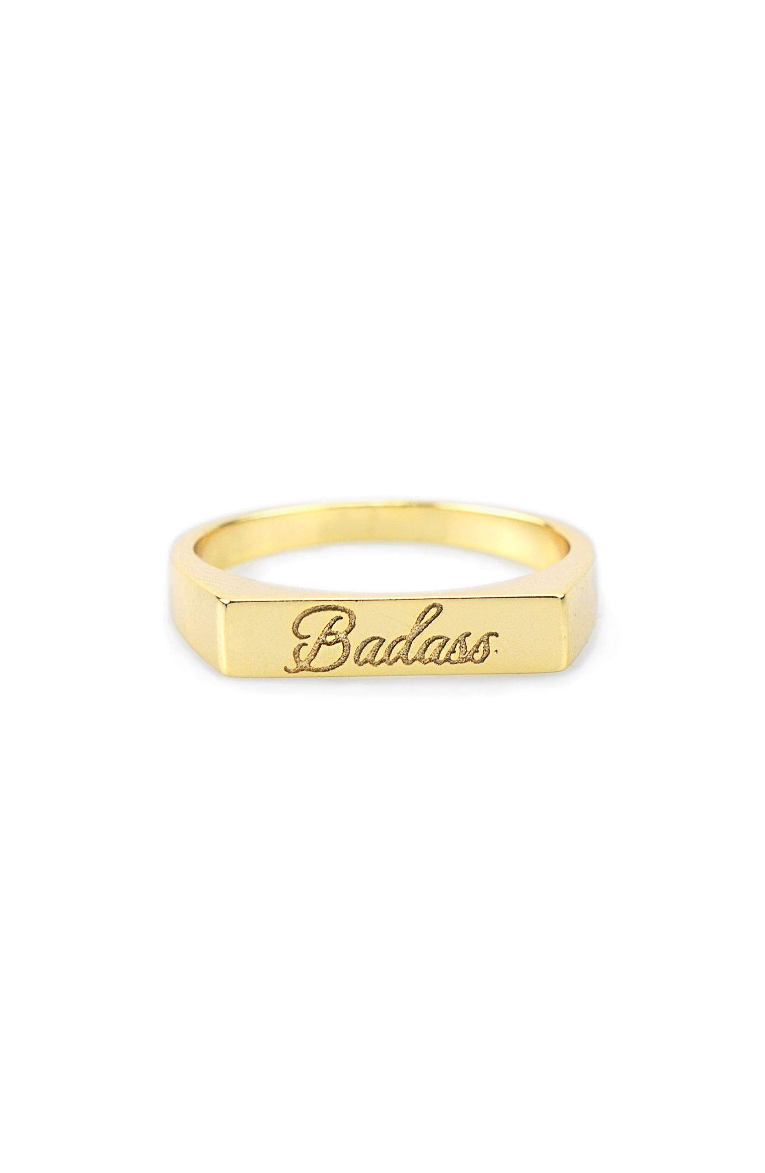 Alternate Image 1 Selected - Kris Nations Engraved Ring