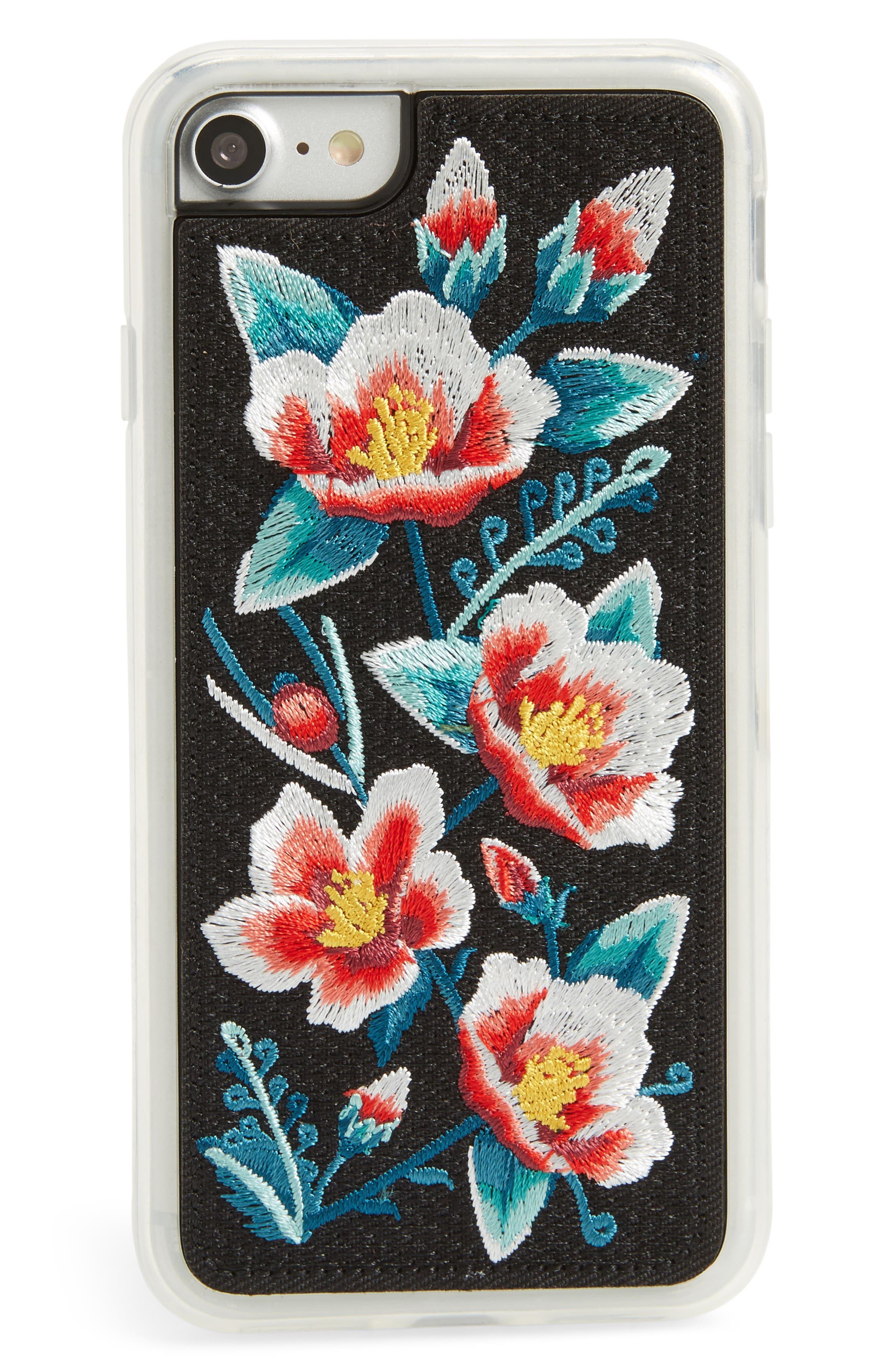 Camellia iPhone 6/6s/7/8 & 6/6s/7/8 Plus Case,                             Main thumbnail 1, color,                             White Multi